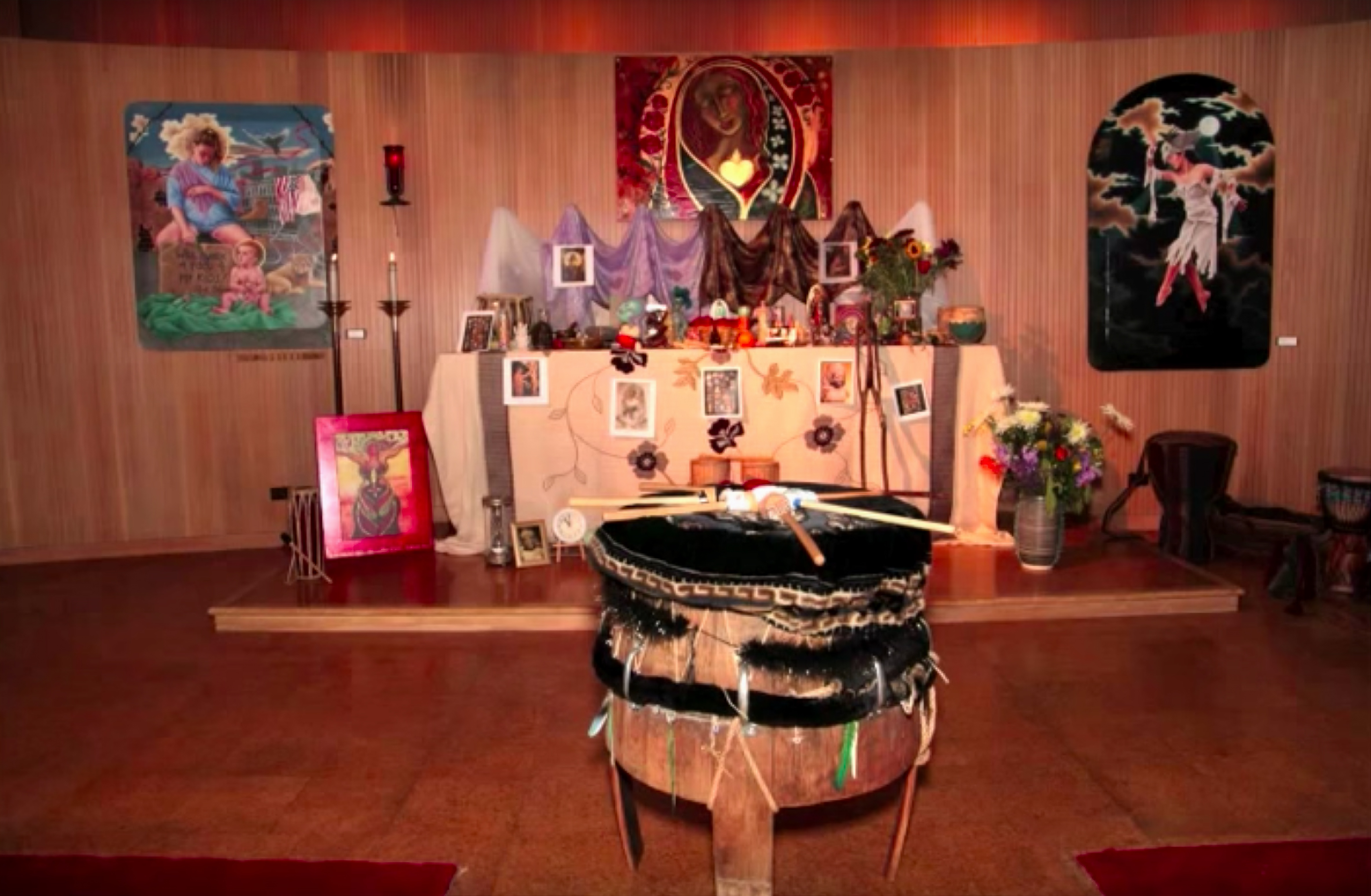 The altar at Ebenezer Lutheran. (Youtube)