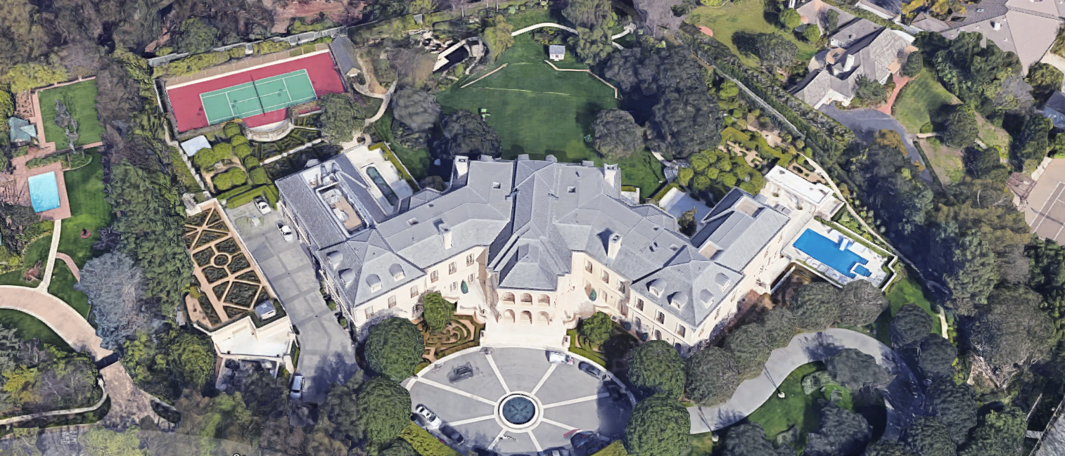 """The Manor"" in Holmby Hills sells for $120 Million. Photo by Google Maps."