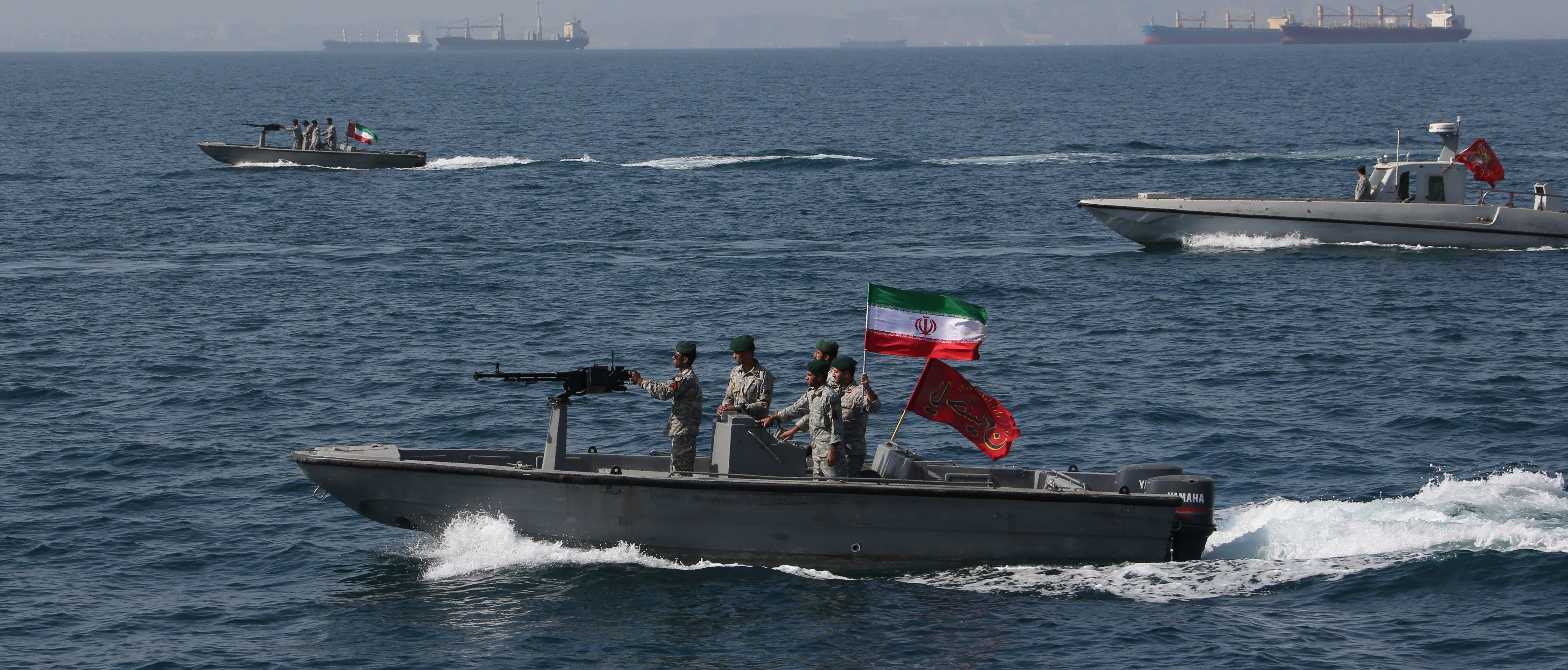 Iranian soldiers take part in the