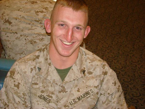 Rob Jones during his time in the Marine Corps/press release