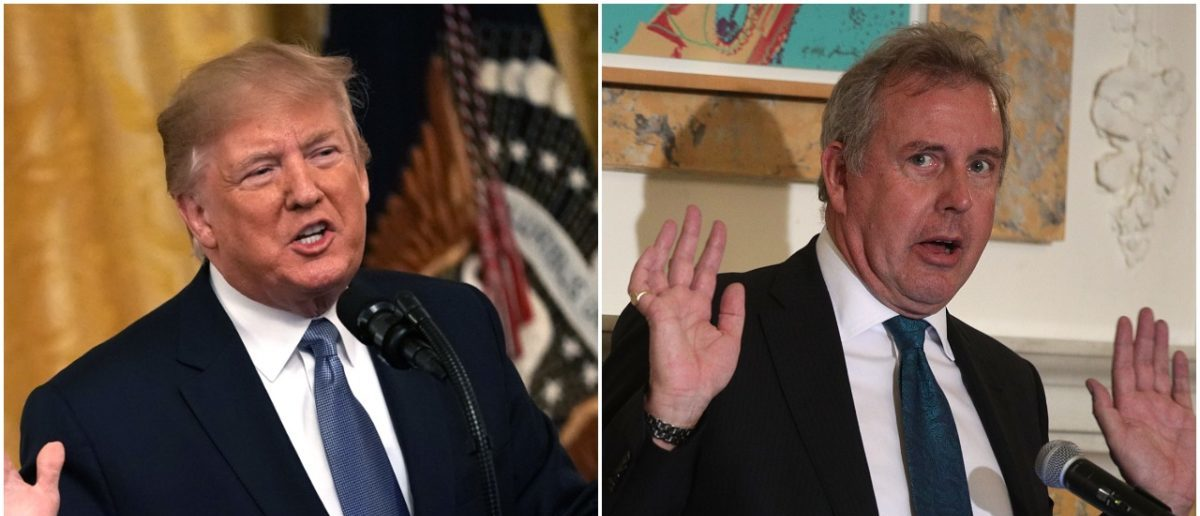 Left: Donald Trump (Getty Images), Right: Kim Darroch (Getty Images)