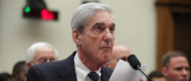 Former special counsel Robert Mueller testifies before the House Intelligence Committee about his report on Russian interference in the 2016 presidential election in the Rayburn House Office Building July 24, 2019 in Washington, D.C. (Alex Wong/Getty Images)