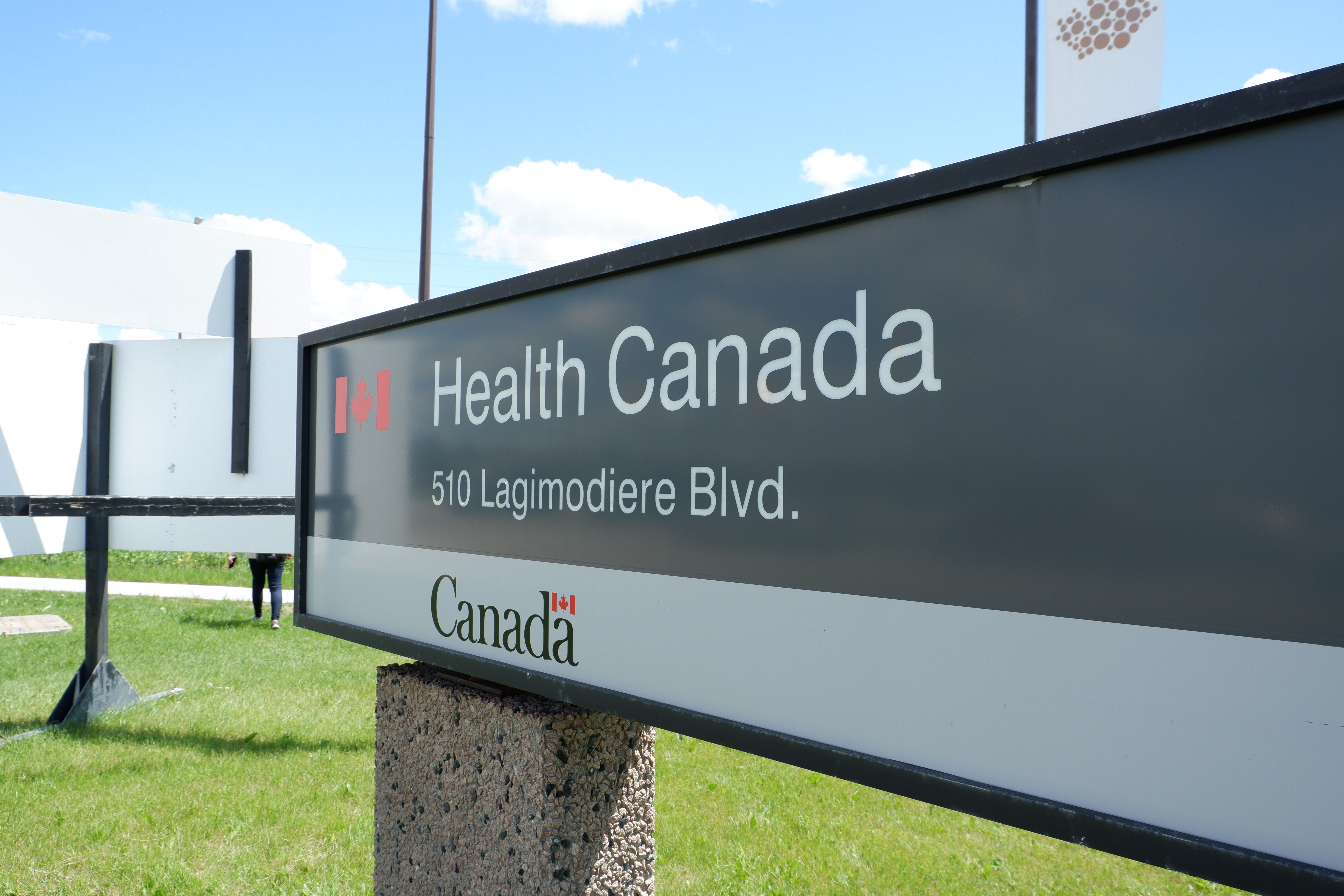 View of Health Canada board installed in lawn and in summer. Shutterstock via SBshot87