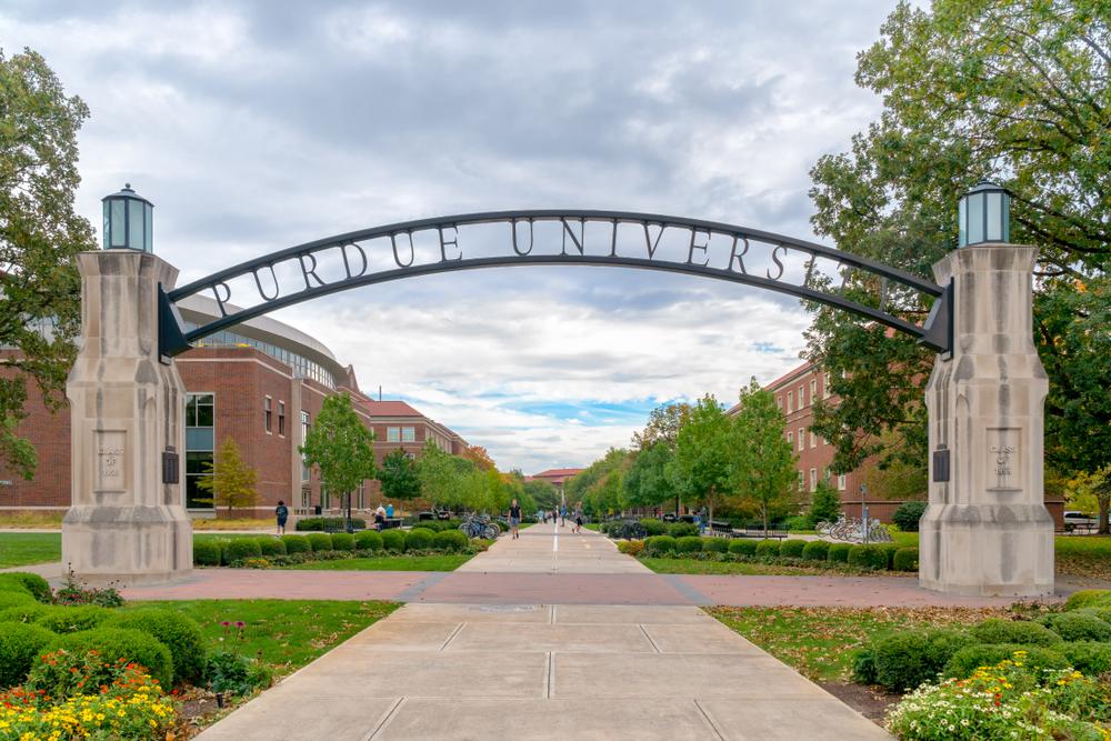 Purdue University gate Credit: Shutterstock/Ken Wolter