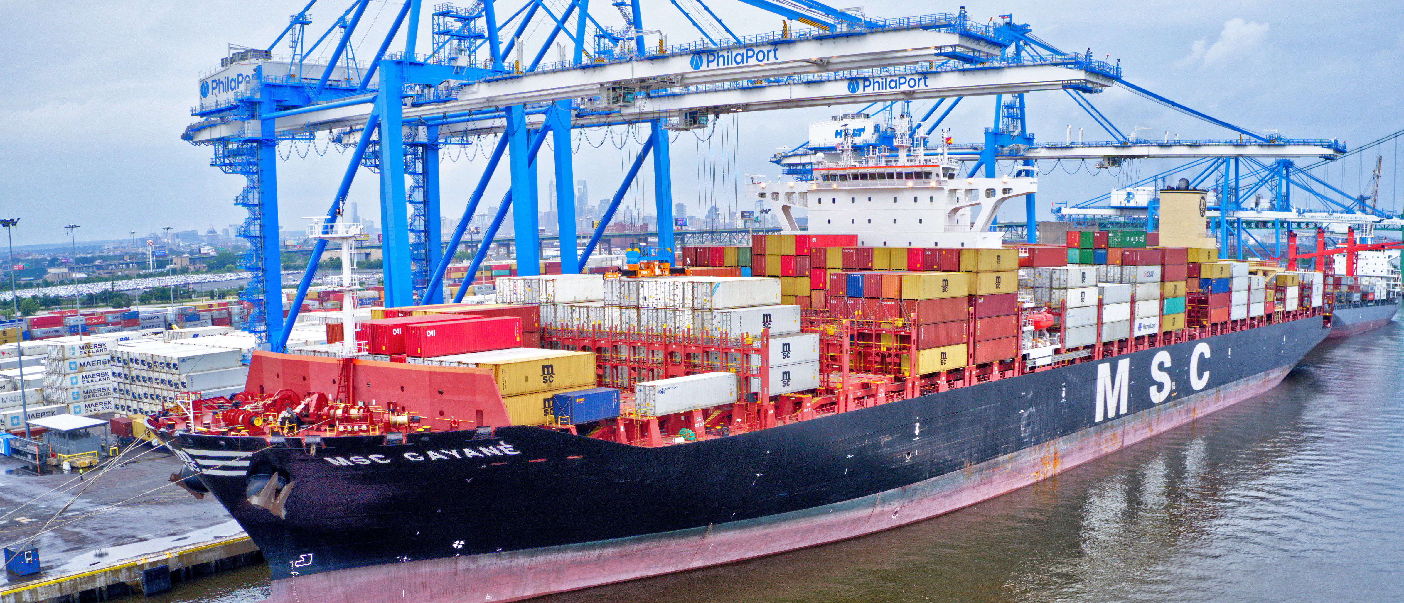 Philadelphia, PA / USA - June 18, 2019: 16.5 tons of cocaine worth $1 billion seized at Philadelphia port Cargo Ship MSC Gaynes Credit: Shutterstock