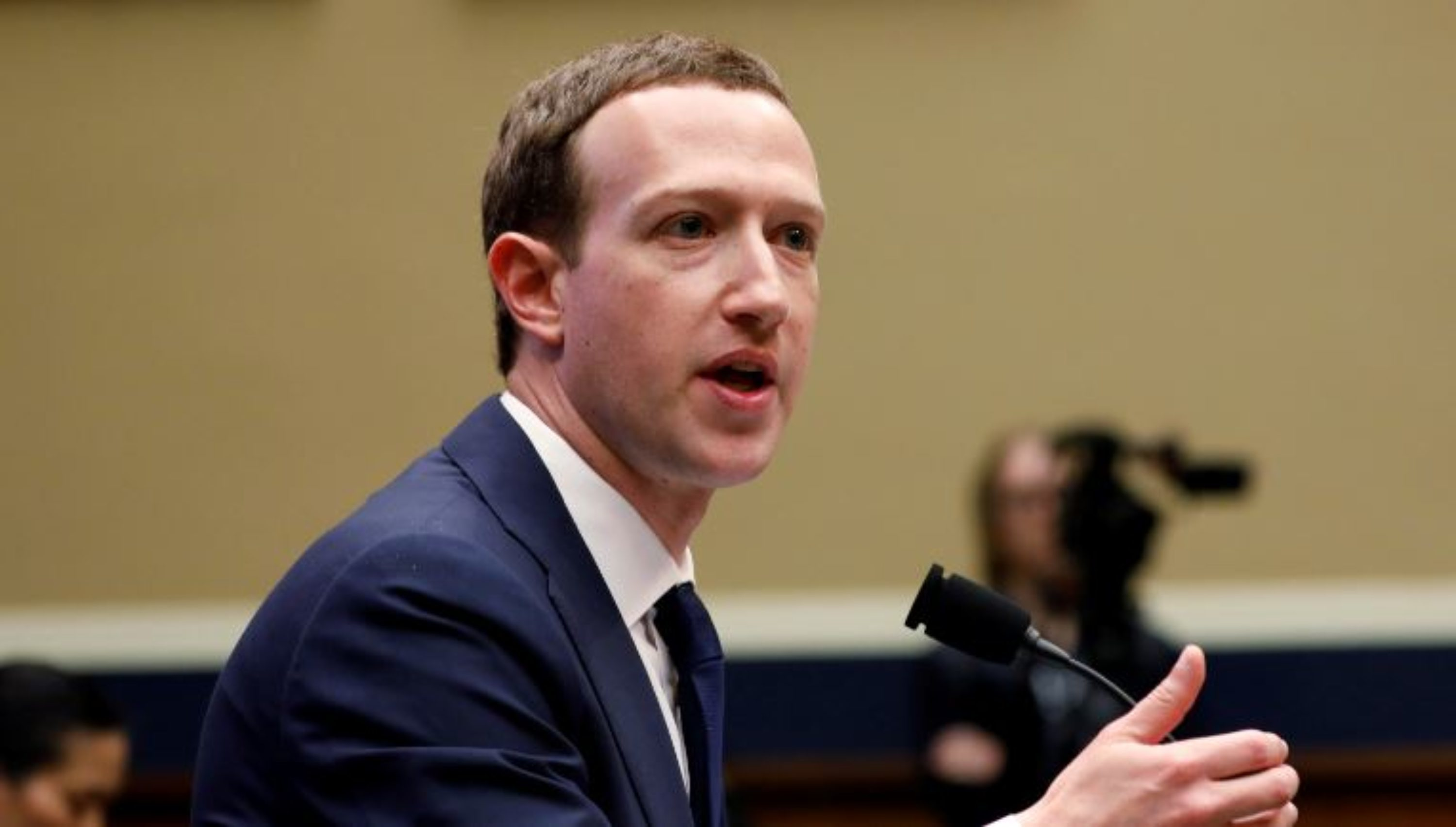 Facebook CEO Mark Zuckerberg testifies before a House Energy and Commerce Committee hearing regarding the company's use and protection of user data on Capitol Hill in Washington, U.S., April 11, 2018. REUTERS/Aaron P. Bernstein
