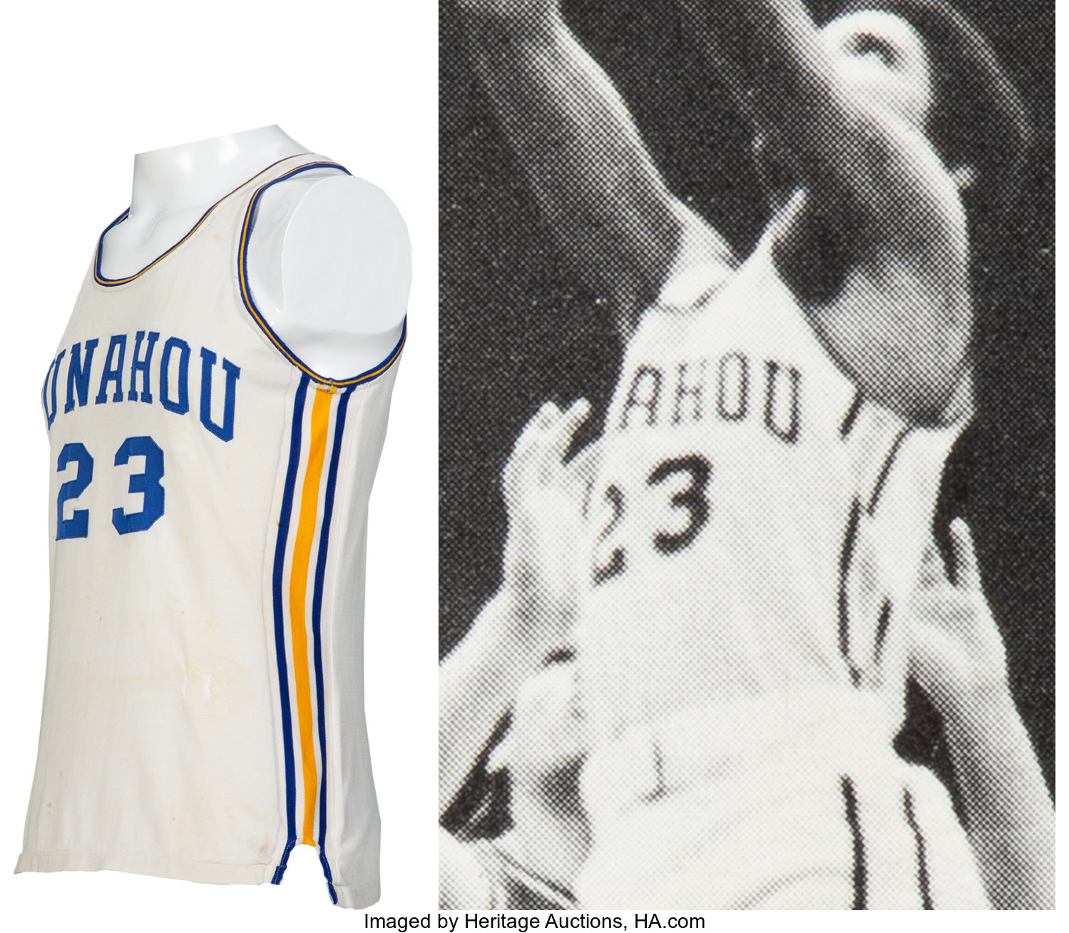 Obama wore this jersey when he played for Punahou Prep. (Heritage Auctions/Media Kit)
