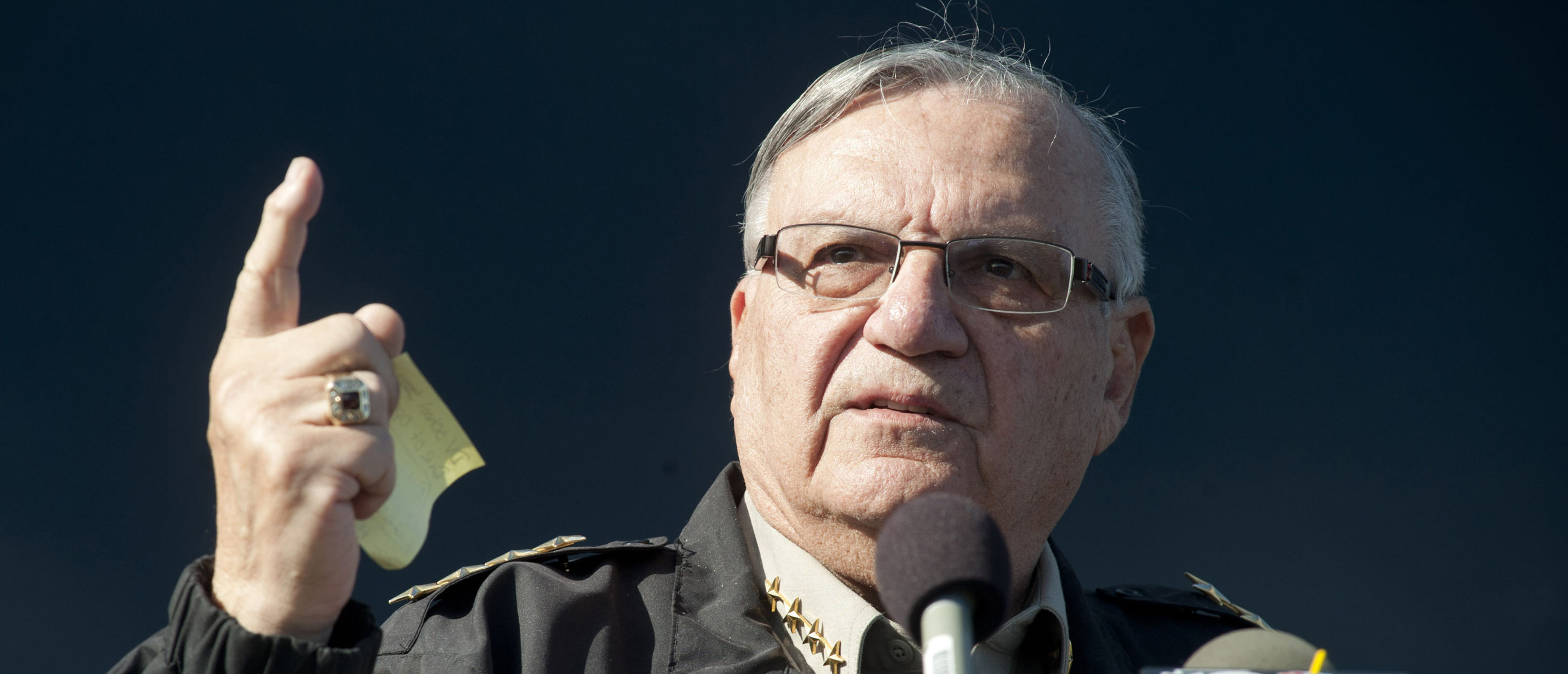 Maricopa County Sheriff Joe Arpaio announces newly launched program aimed at providing security around schools in Anthem, Arizona, U.S. January 9, 2013. REUTERS/Laura Segall