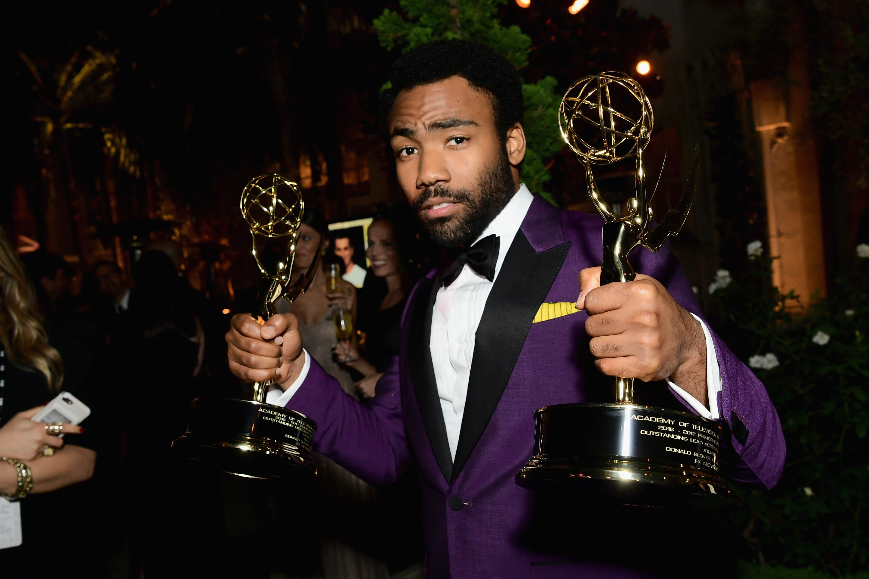 Donald Glover attends FOX Broadcasting Company, Twentieth Century Fox Television, FX And National Geographic 69th Primetime Emmy Awards After Party at Vibiana on September 17, 2017 in Los Angeles, California. (Photo by Emma McIntyre/Getty Images)