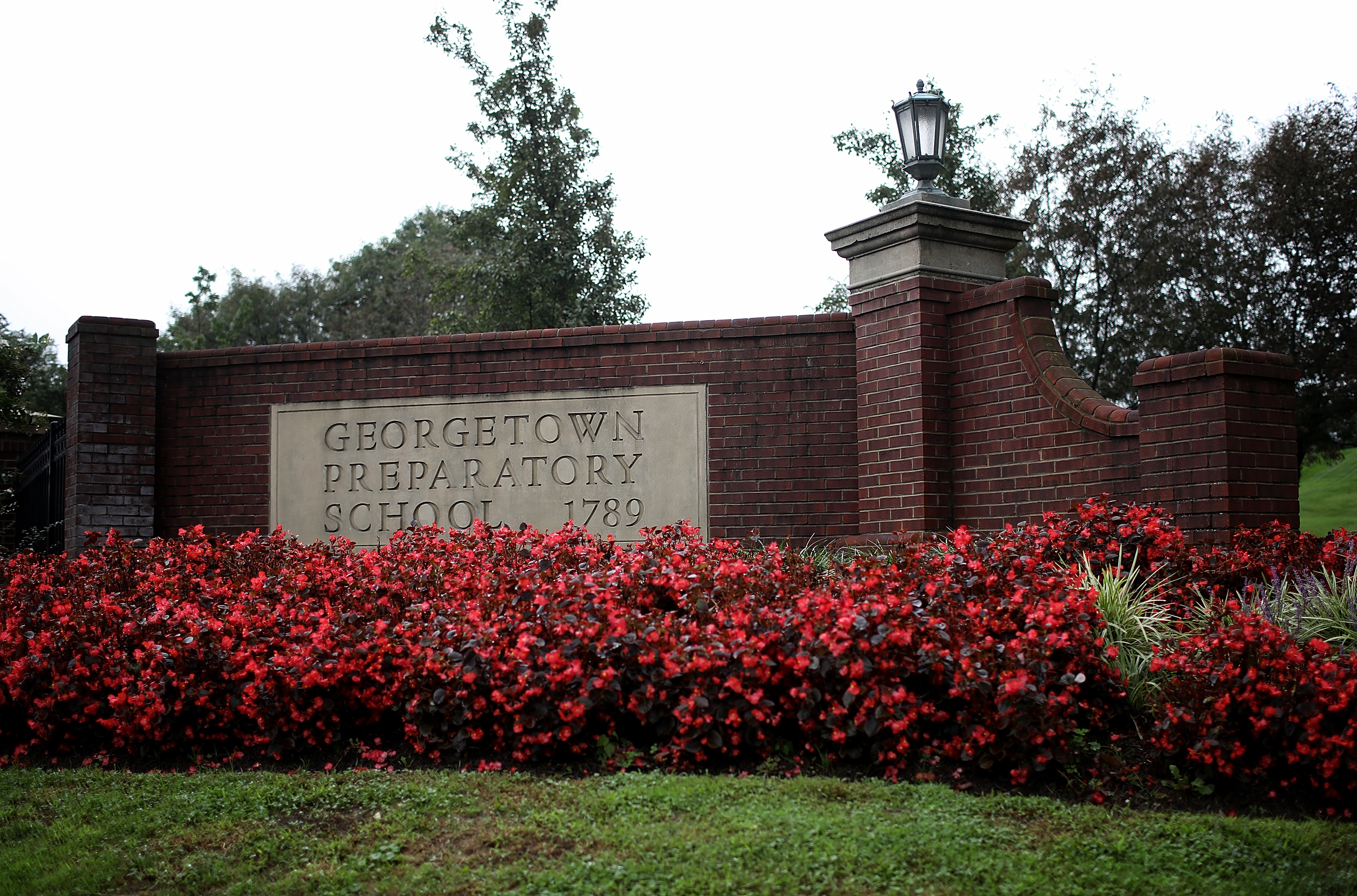 The entrance to the Georgetown Preparatory School in Bethesda, Maryland as seen on September 18, 2018. (Win McNamee/Getty Images)