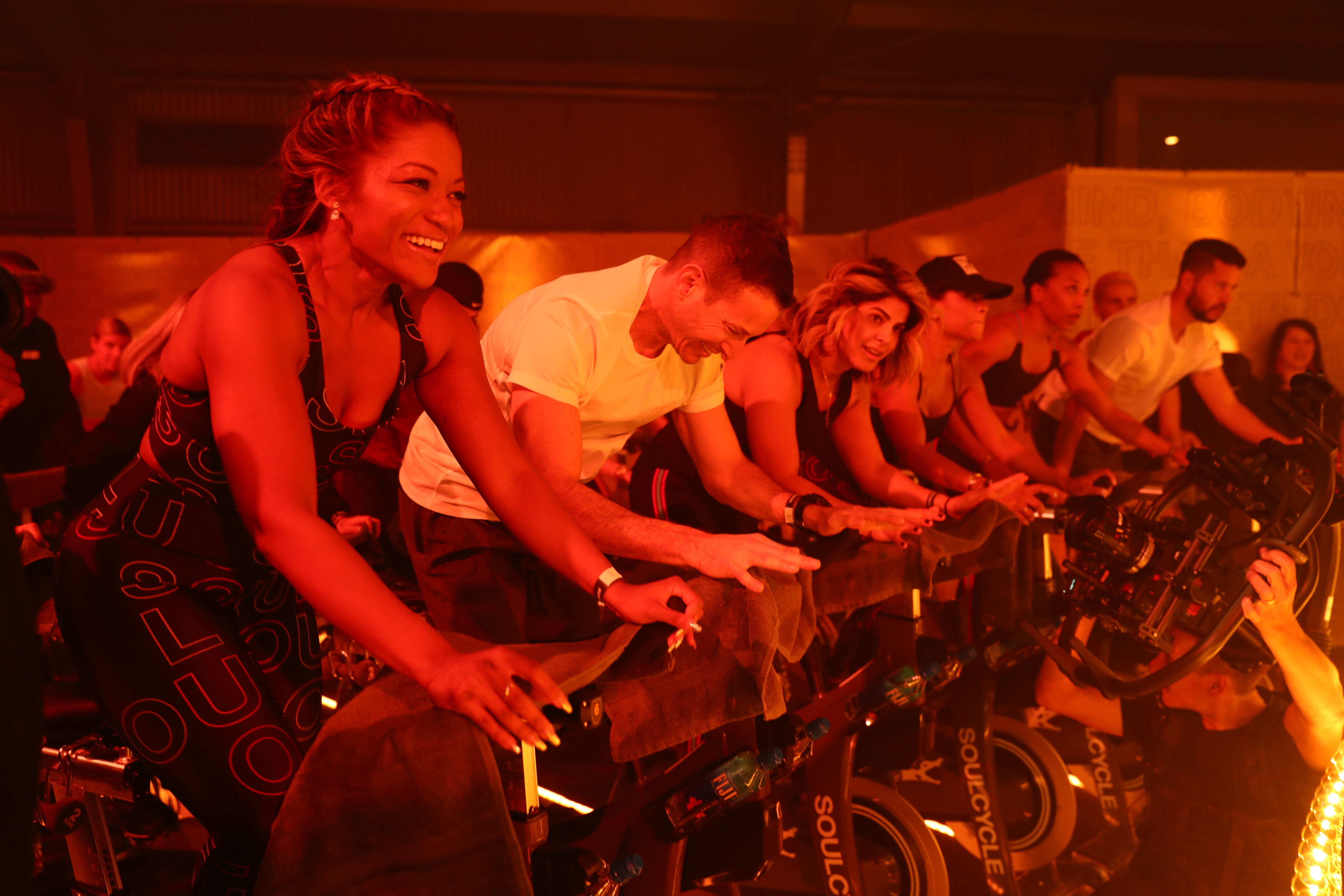 LOS ANGELES, CALIFORNIA - MARCH 22: Ryders enjoy the performance at Sound by SoulCycle at Milk Studios on March 22, 2019 in Los Angeles, California. (Photo by Joe Scarnici/Getty Images for SoulCycle)