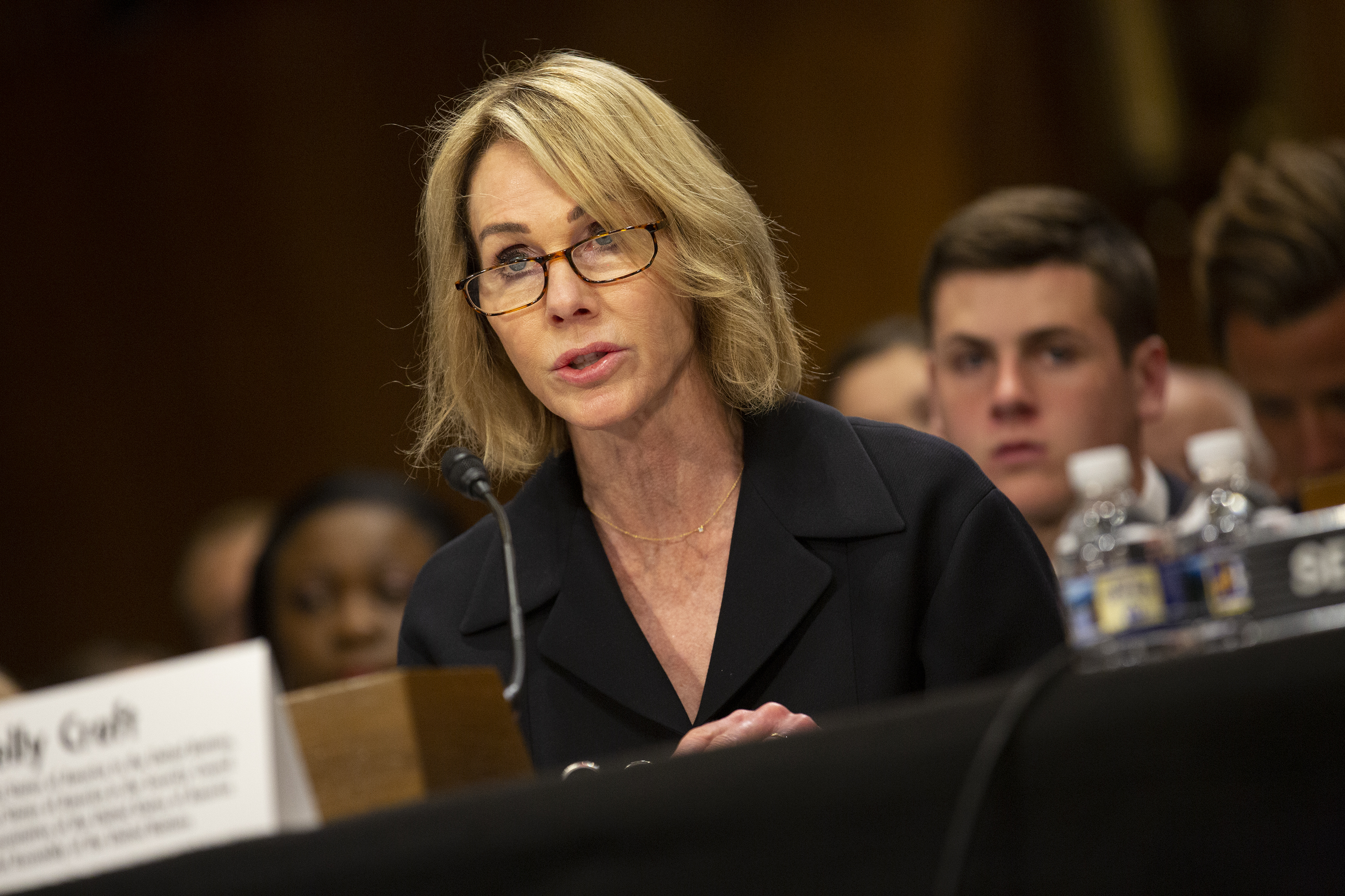 Kelly Craft, President Trump's nominee to be Representative to the United Nations, testifies at her nomination hearing before the Senate Foreign Relations Committee on June 19, 2019 in Washington, DC. (Photo by Stefani Reynolds/Getty Images)