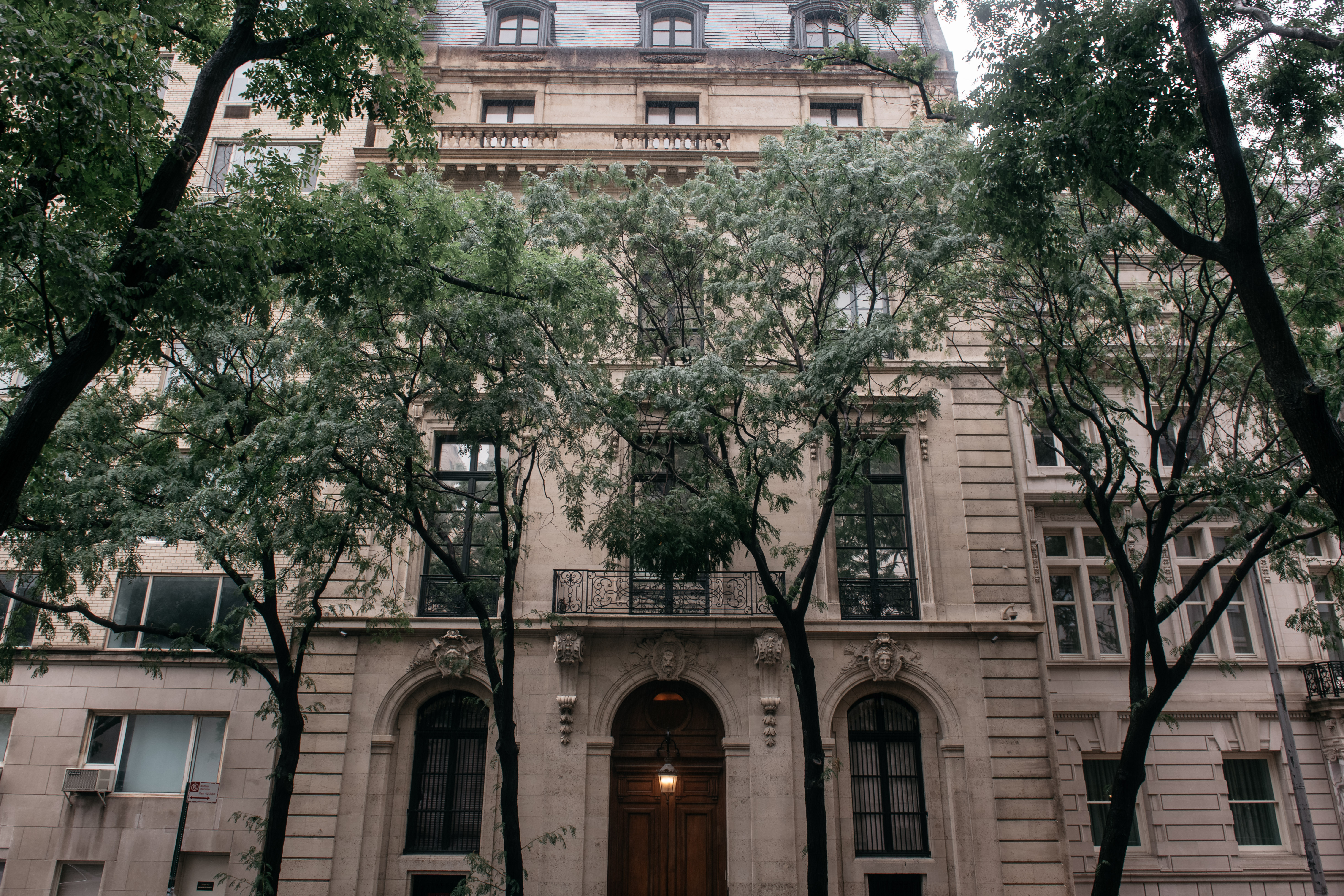 Jeffrey Epstein's residence at 9 East 71st Street in the Manhattan borough of New York on July 18, 2019 in New York City. (Scott Heins/Getty Images)