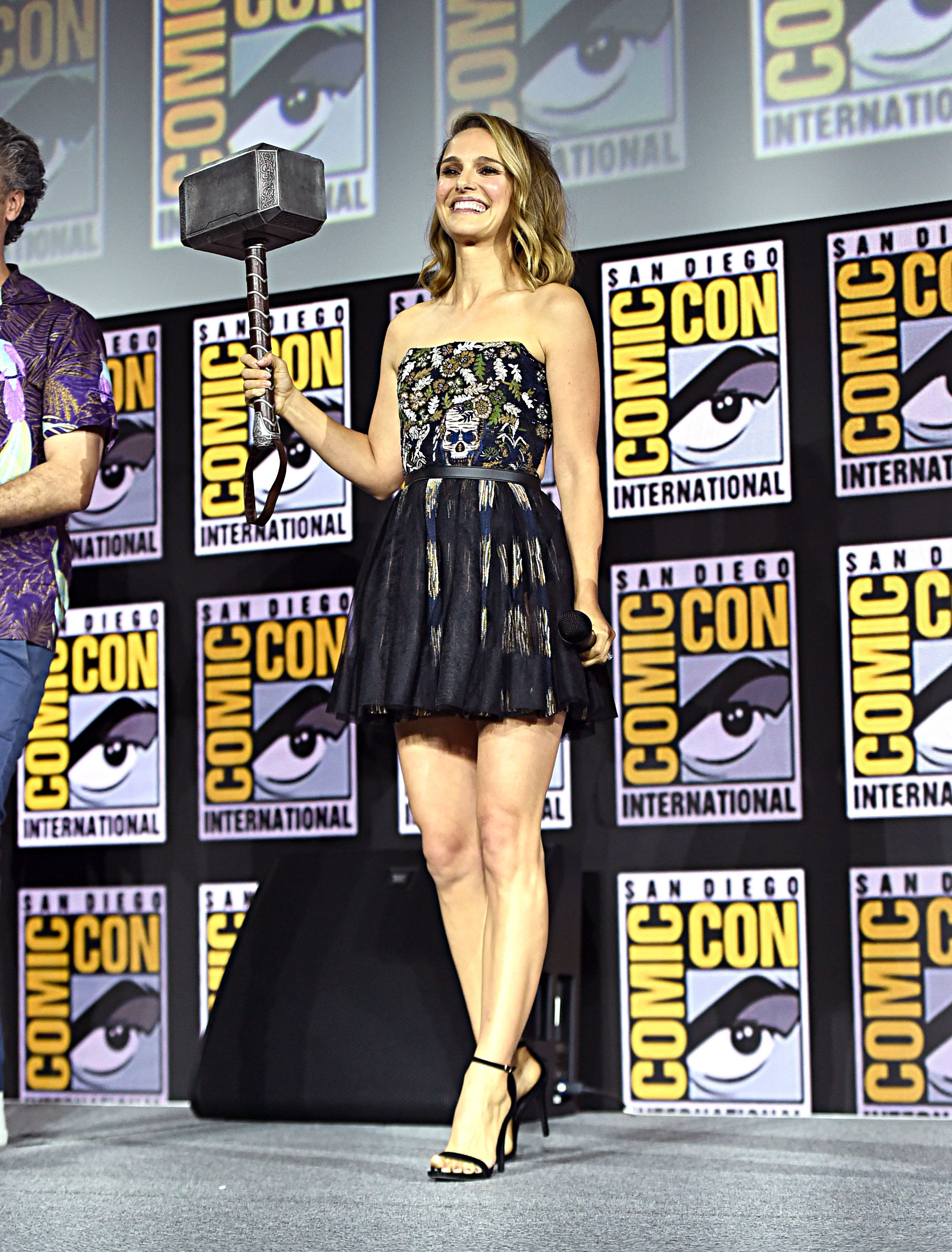 Natalie Portman of Marvel Studios' 'Thor: Love and Thunder' at the San Diego Comic-Con International 2019 Marvel Studios Panel in Hall H on July 20, 2019 in San Diego, California. (Photo by Alberto E. Rodriguez/Getty Images for Disney)