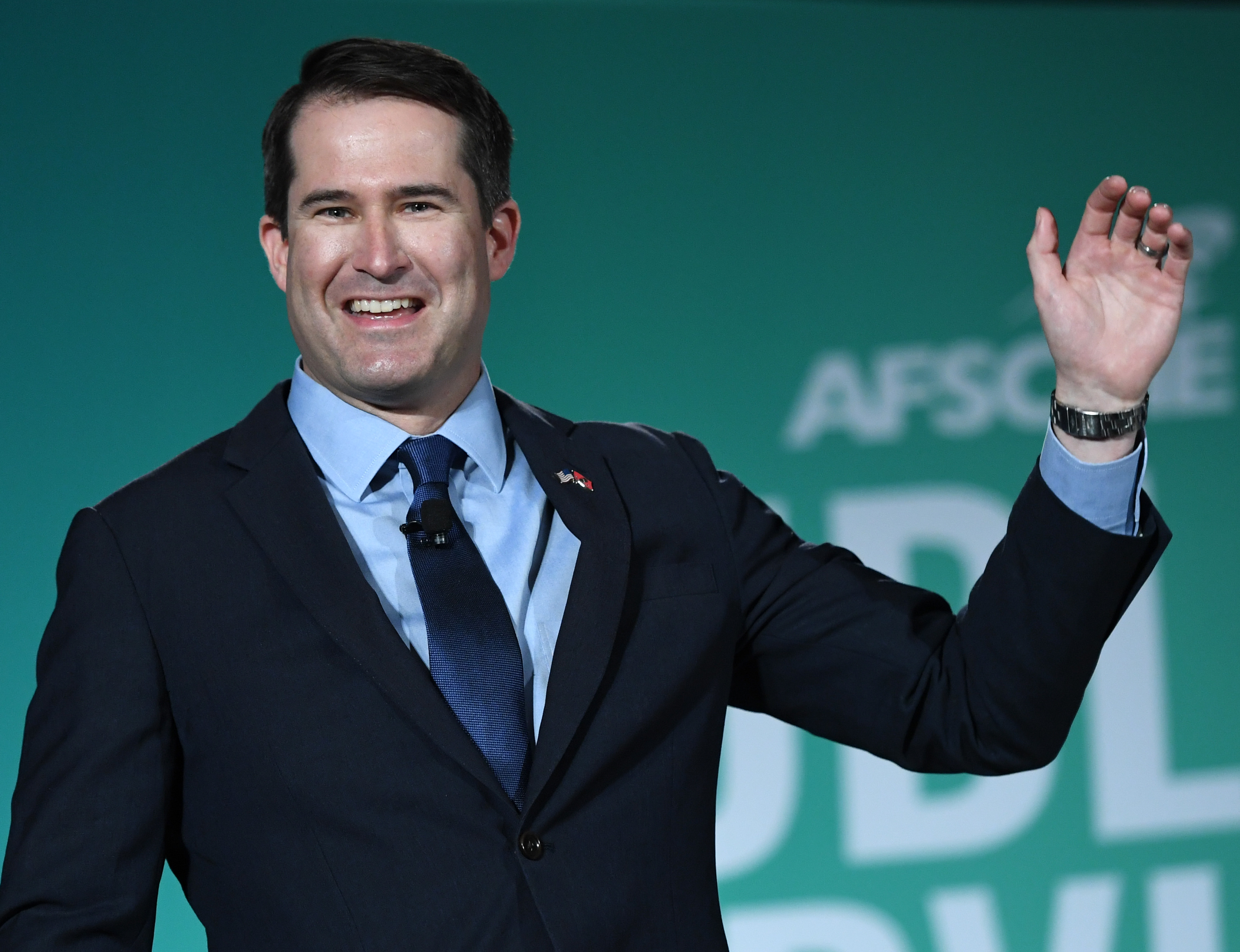 LAS VEGAS, NEVADA - AUGUST 03: Democratic presidential candidate and U.S. Rep. Seth Moulton (D-MA) speaks during the 2020 Public Service Forum hosted by the American Federation of State, County and Municipal Employees (AFSCME) at UNLV on August 3, 2019 in Las Vegas, Nevada. Nineteen of the 24 candidates running for the Democratic party's 2020 presidential nomination are addressing union members in a state with one of the largest organized labor populations in the United States. (Photo by Ethan Miller/Getty Images)