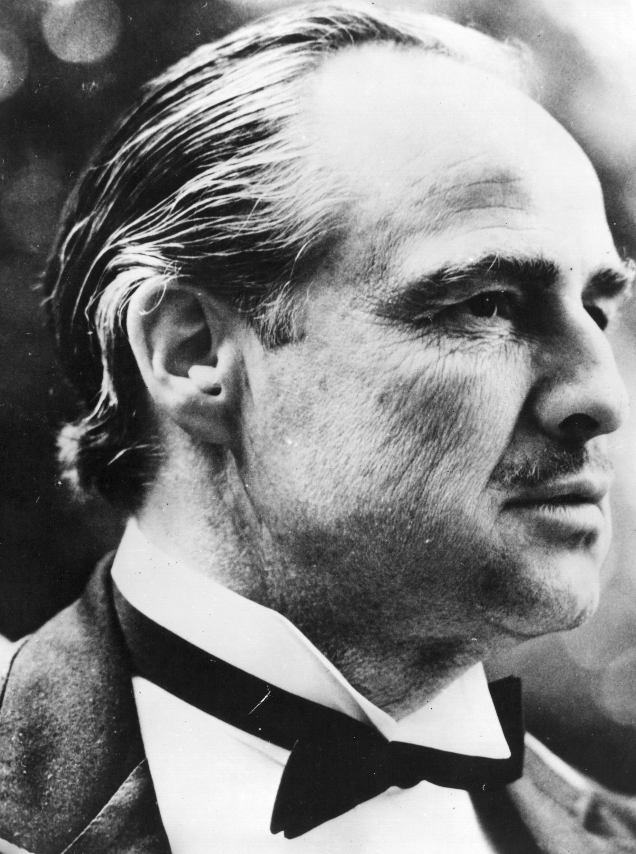 1972: American actor Marlon Brando as Don Corleone in 'The Godfather,' directed by Francis Ford Coppola for Paramount. (Photo by Central Press/Getty Images)