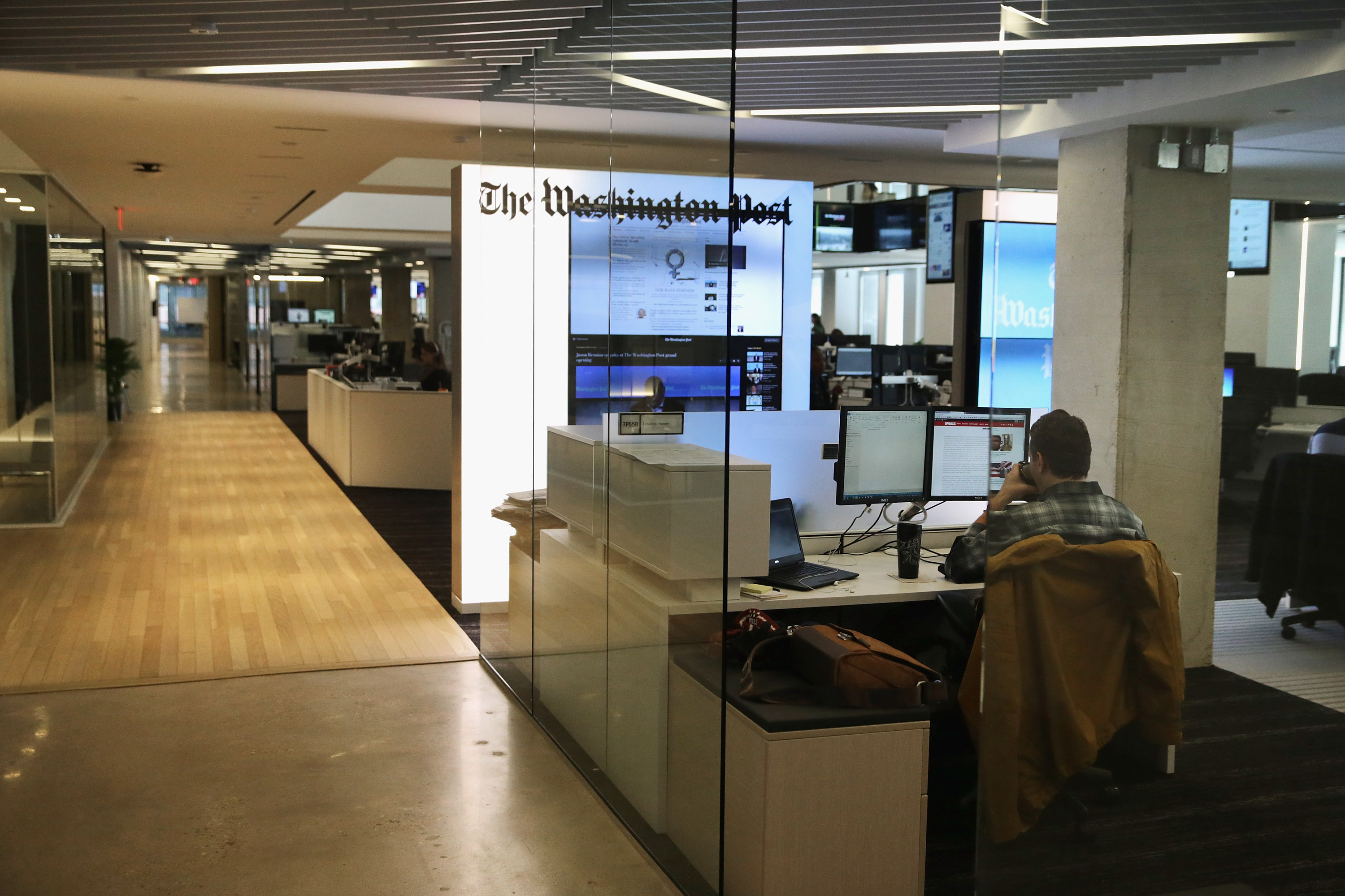 The Washington Post's news room, January 28, 2016 in Washington, DC. (Chip Somodevilla/Getty Images)