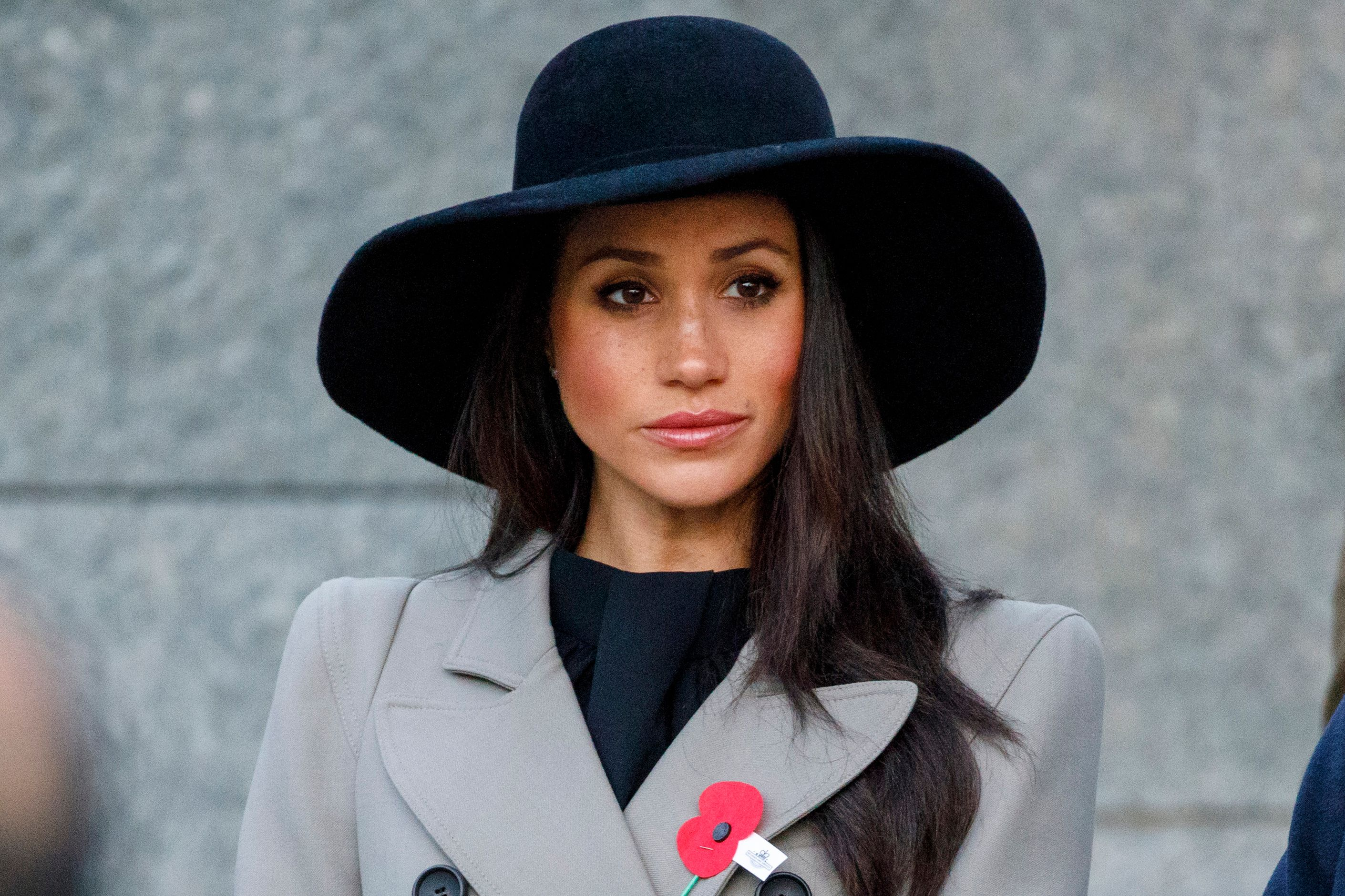 Meghan Markle attends an Anzac Day dawn service at Hyde Park Corner in London on April 25, 2018. (TOLGA AKMEN/AFP/Getty Images)