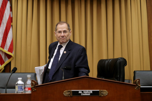 House Judiciary Committee chairman Jerry Nadler (D-NY) leaves after the committee voted to hold Attorney General William Barr in contempt of Congress for not providing an un-redacted copy of special prosecutor Robert Mueller's report. (Chip Somodevilla/Getty Images)