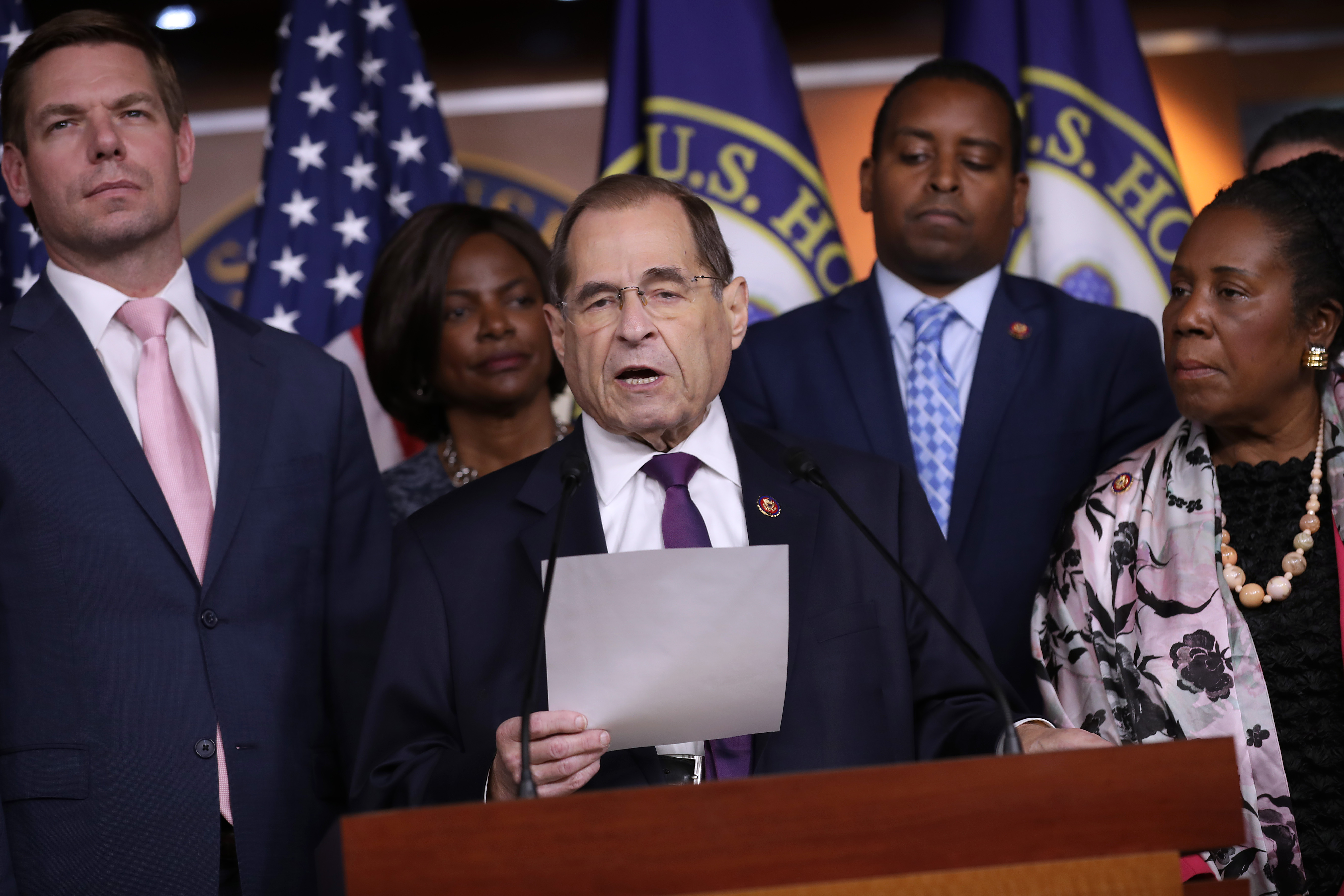 House Judiciary Committee chairman Jerrold Nadler (D-NY) holds a news conference about the testimony of former special counsel Robert Mueller on July 26, 2019. (Chip Somodevilla/Getty Images)