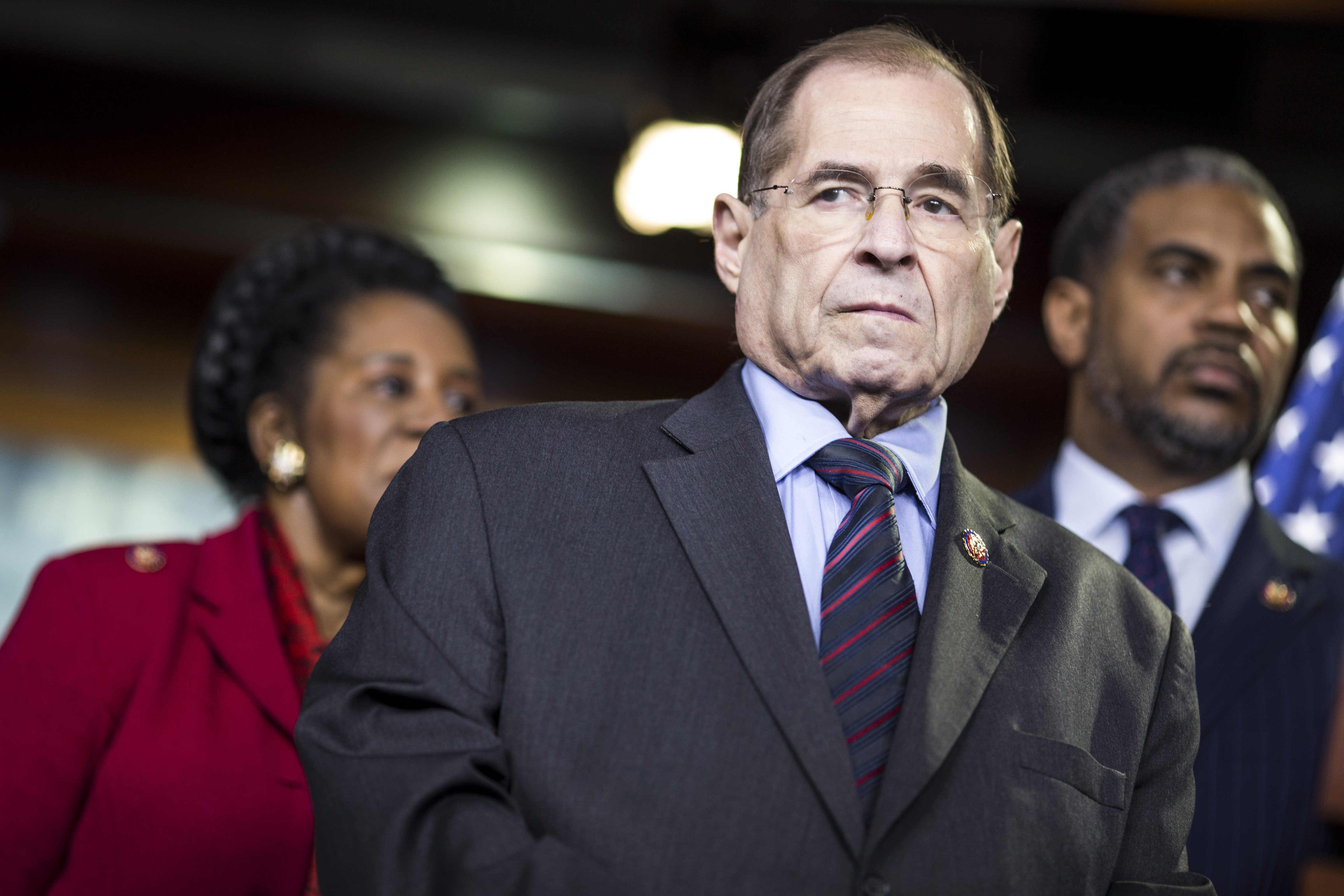 House Judiciary Committee chairman Rep. Jerry Nadler (D-NY) attends a news conference on April 9, 2019. (Zach Gibson/Getty Images)