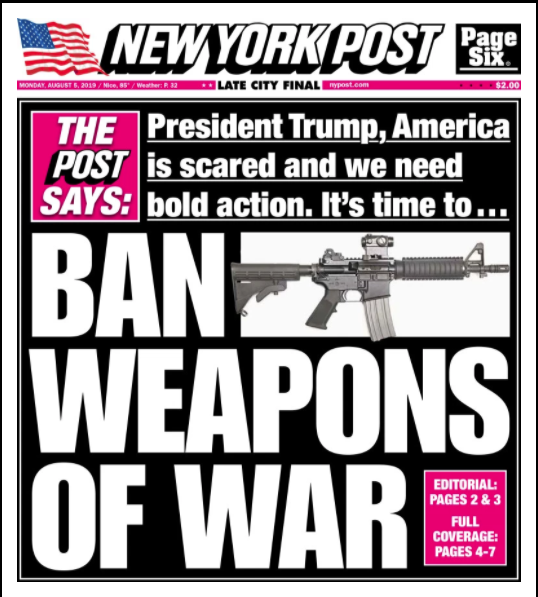 Murdoch's New York Post Calls To Bring Back Assault