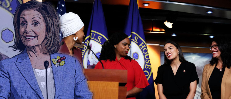 House Speaker Nancy Pelosi and the four freshman congresswomen aka The Squad dailycaller original