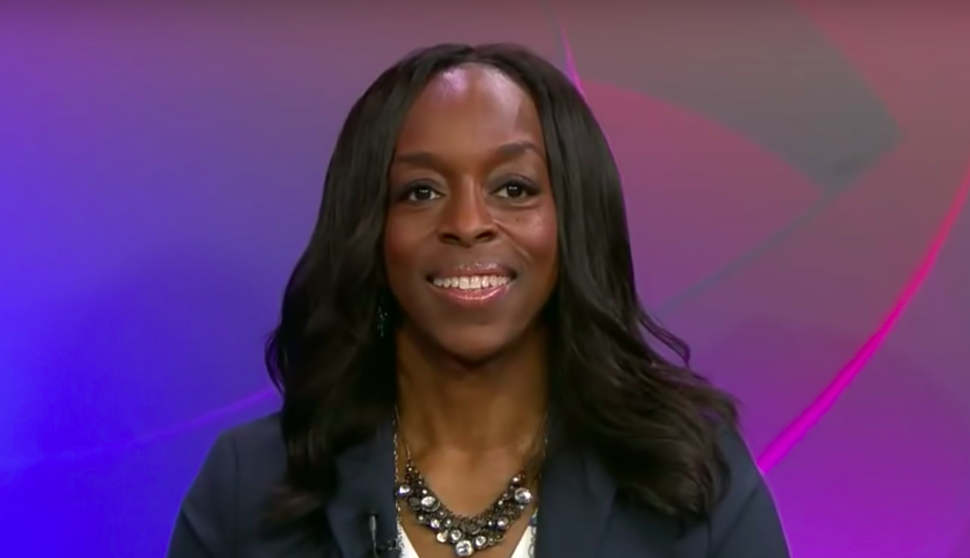Oberlin College President Carmen Twillie Ambar defends Oberlin on CBS News, claiming the College is not responsible for the student protests. (Youtube/CBS News)