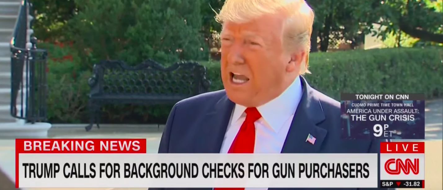 Trump Says He's 'All In Favor' Of Stronger Background Checks/ CNN