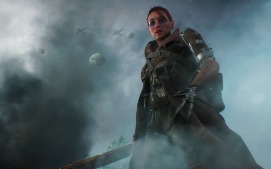 A woman with a disabled hand is featured in the trailer for the Electronic Arts game Battlefield V. (Electronic Arts/Youtube)