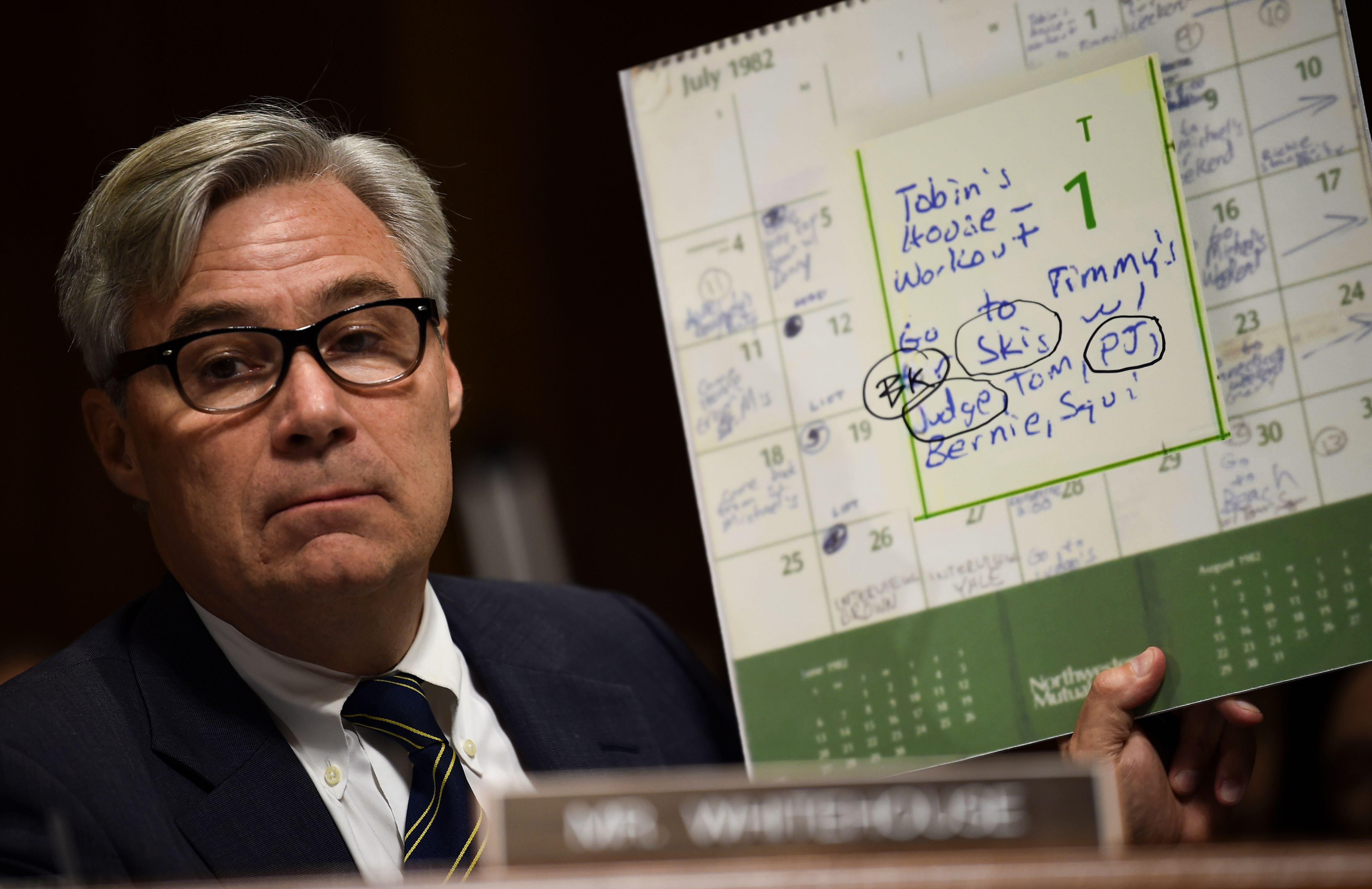Sen. Sheldon Whitehouse (D-RI) in a hearing on Justice Brett Kavanaugh's confirmation on September 28, 2018. (Brendan Smialowski/AFP/Getty Images)