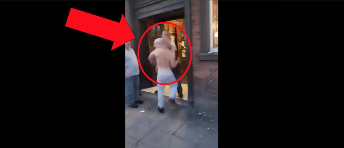 Shirtless Man Tries To Attack Another Person, Immediately Gets Knocked Out In Awesome Video