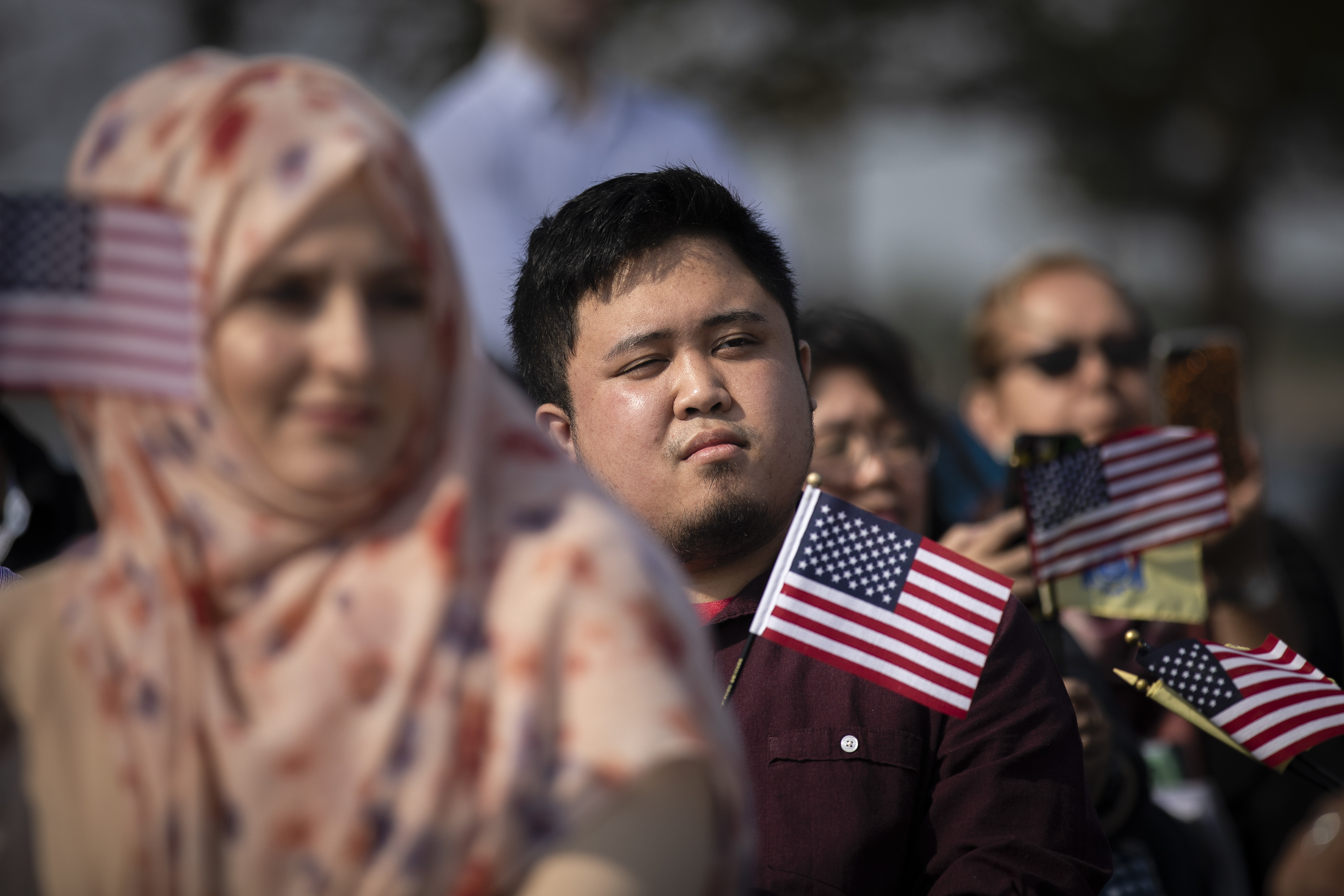 Liberty State Park Hosts Naturalization Ceremony For Immigrants To U.S.