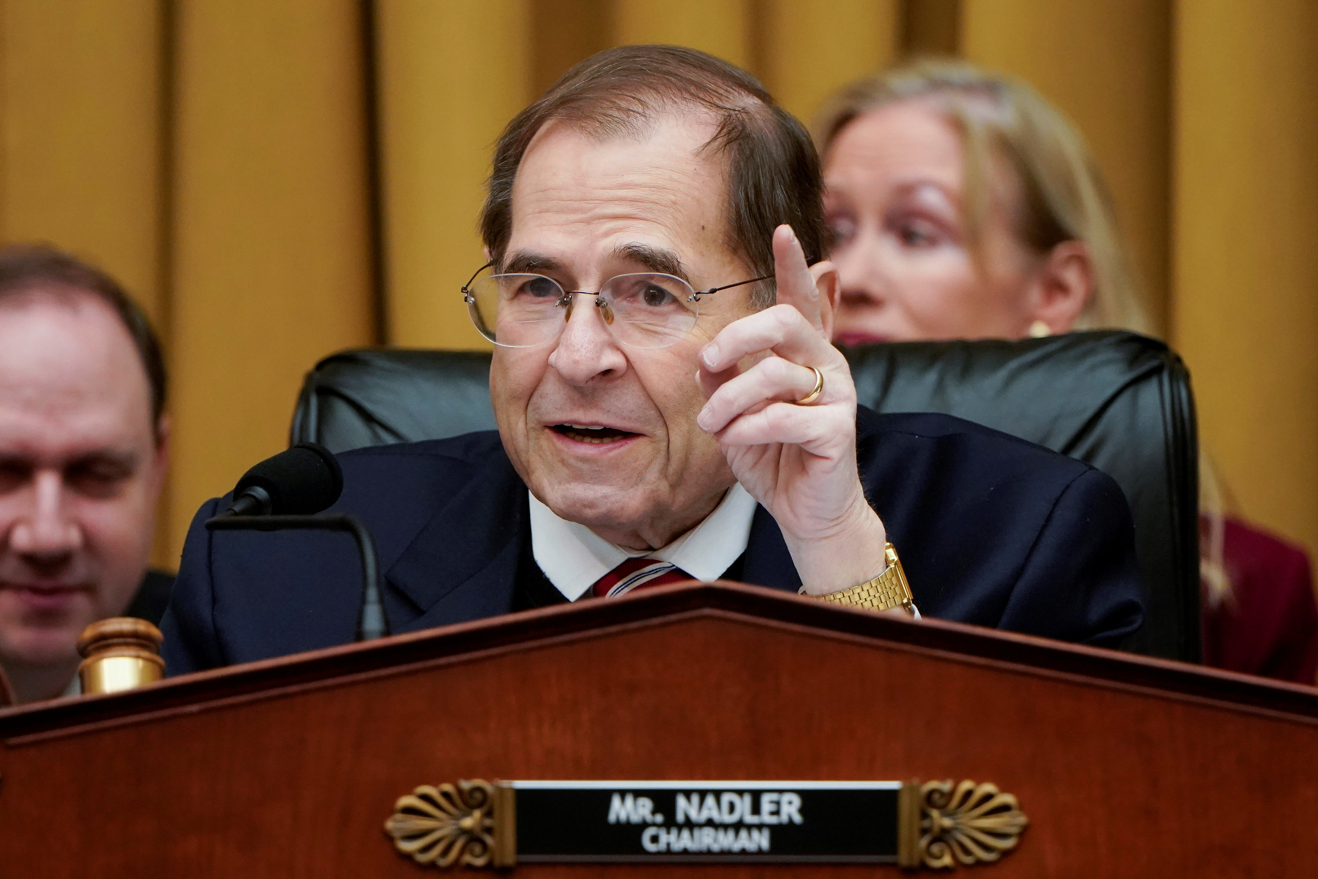 Chairman of the House Judiciary Committee Jerrold Nadler speaks in Washington, U.S., March 26, 2019. REUTERS/Joshua Roberts/File Photo