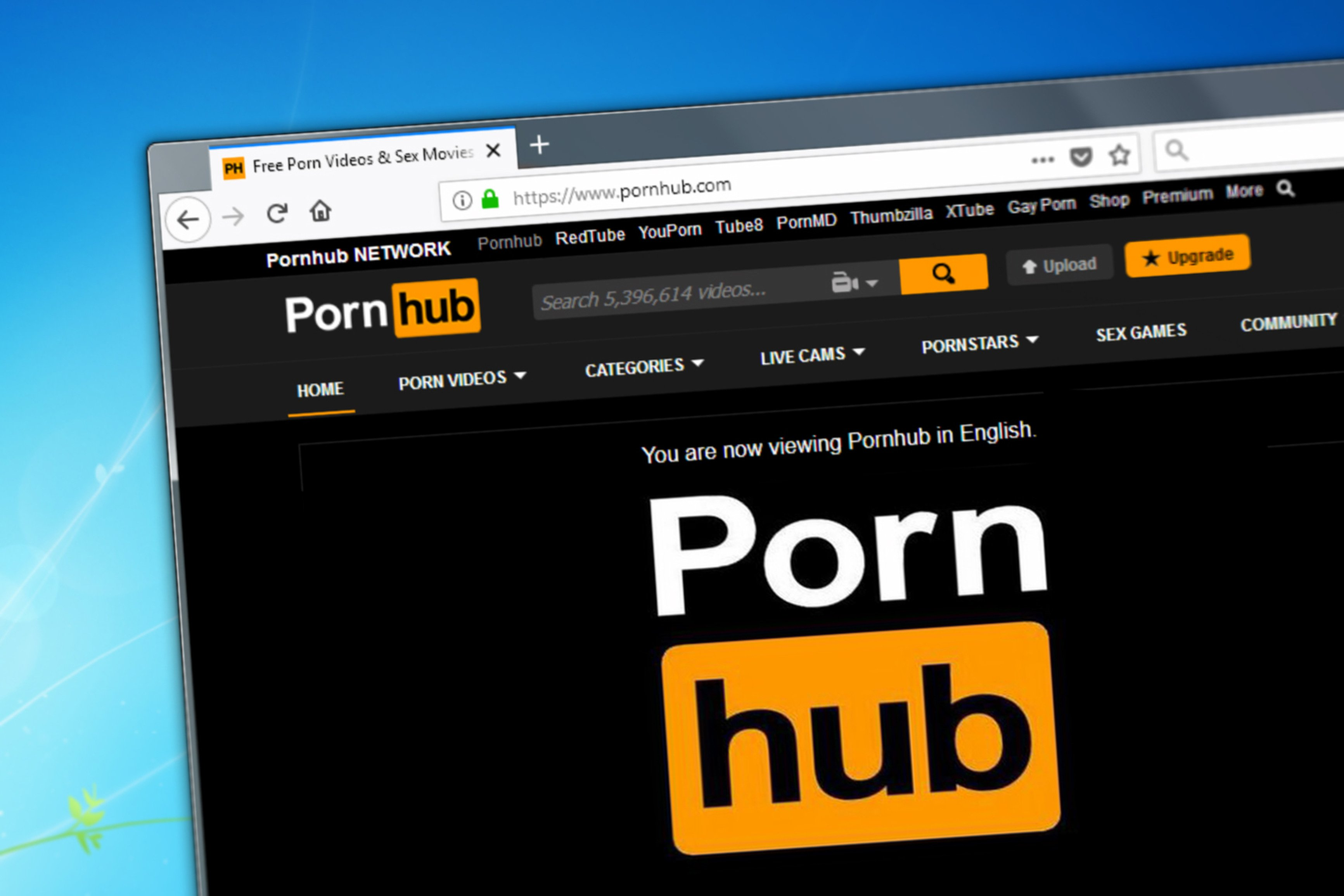 A page on the Pornhub website. (Shutterstock)