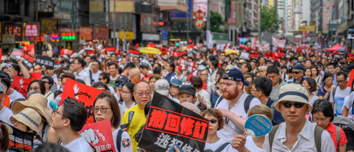 Hong Kong protests with millions of people on the street (shutterstock_PaulWong)