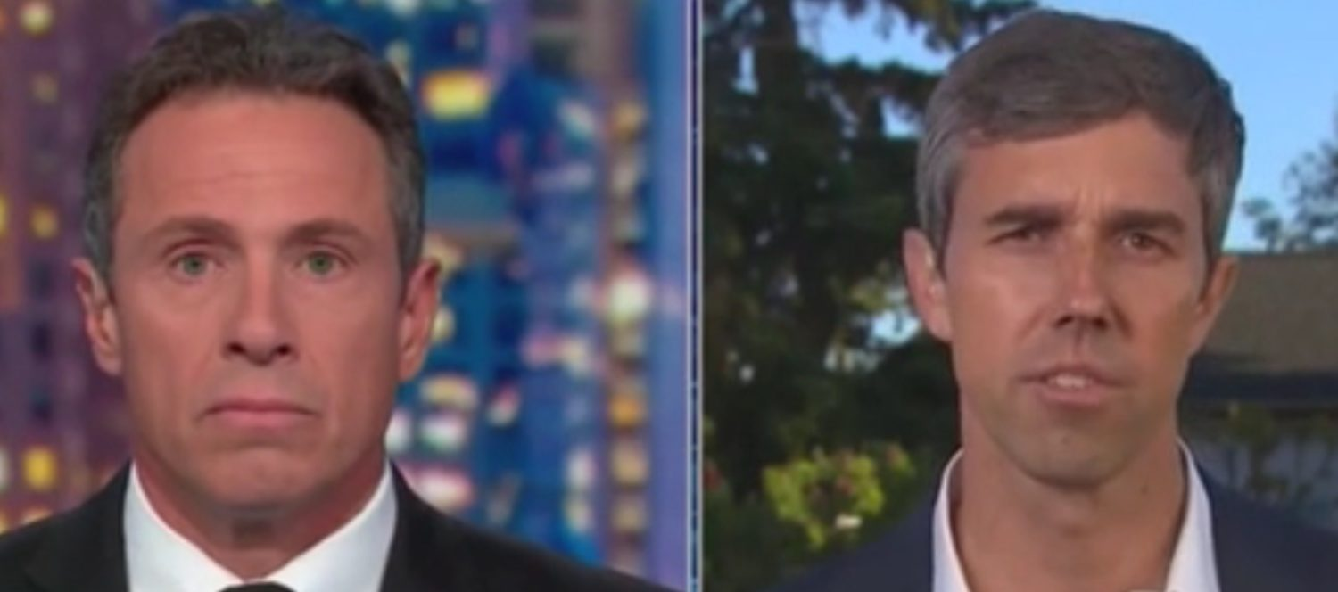 Beto Reduced To Stunned Silence When CNN's Cuomo Tells Him Gun Confiscation Won't Happen