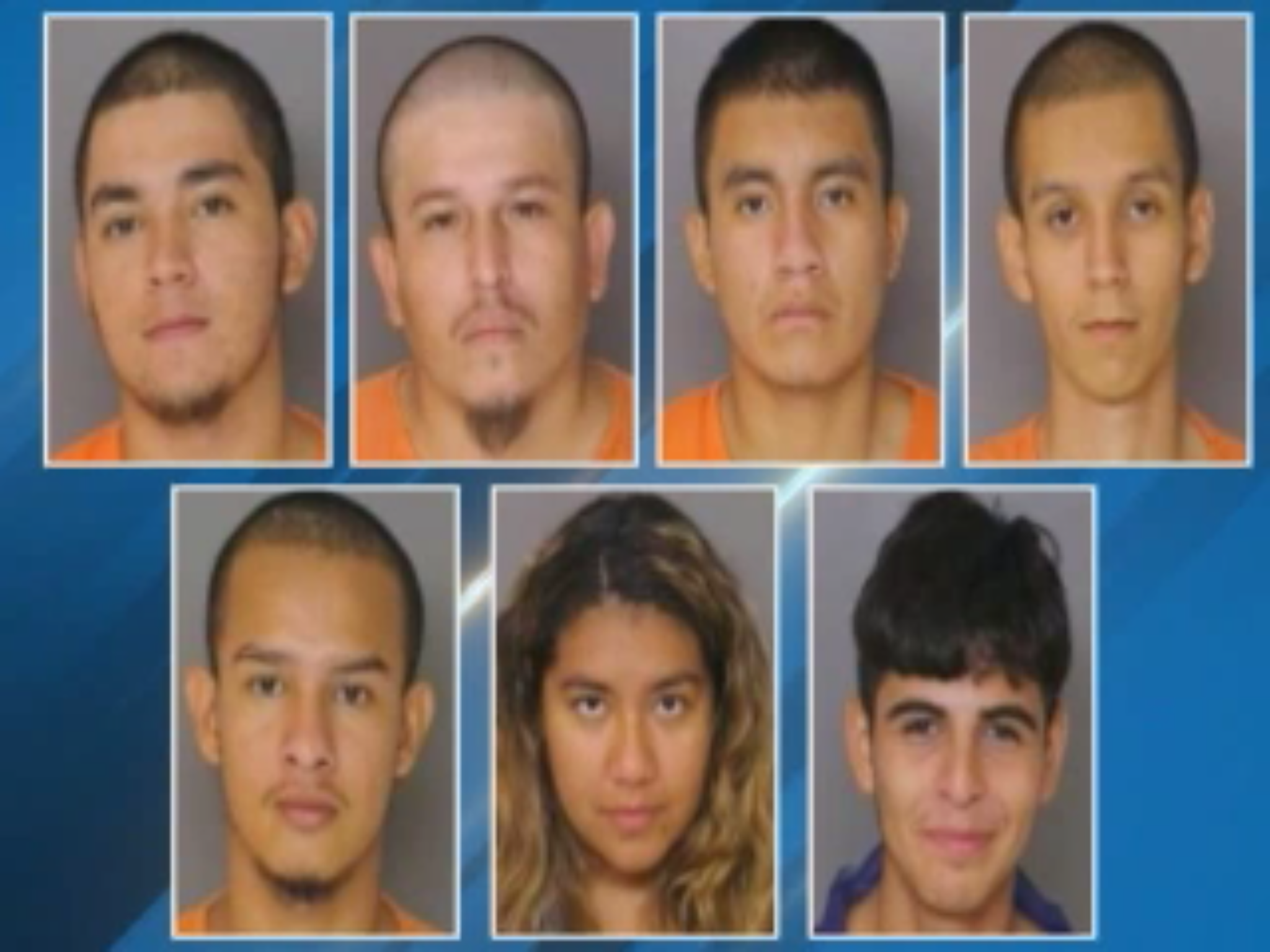 Seven suspects charged in the gang-related killing of a Maryland man. Fox 45 screenshot, Sept. 4, 2019.