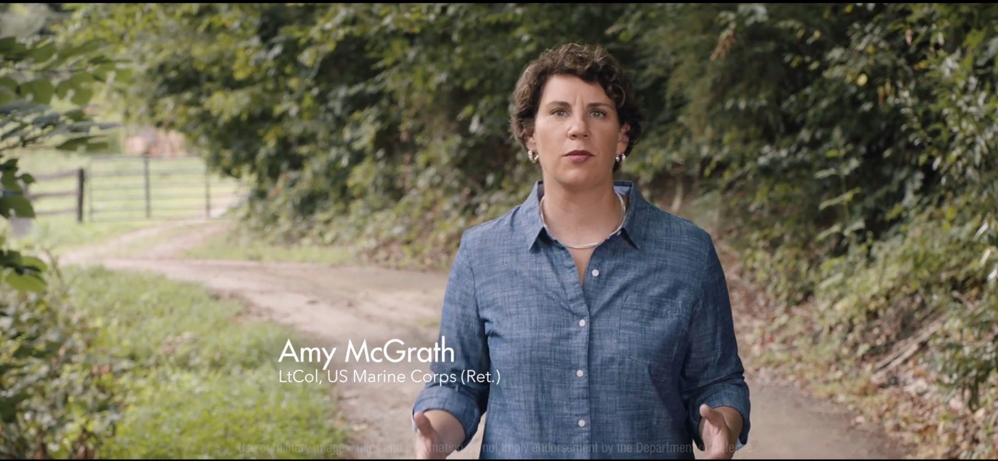 Kentucky Democrat Amy McGrath appears in her political attack ad '10 Hour Bus Ride.' YouTube screenshot