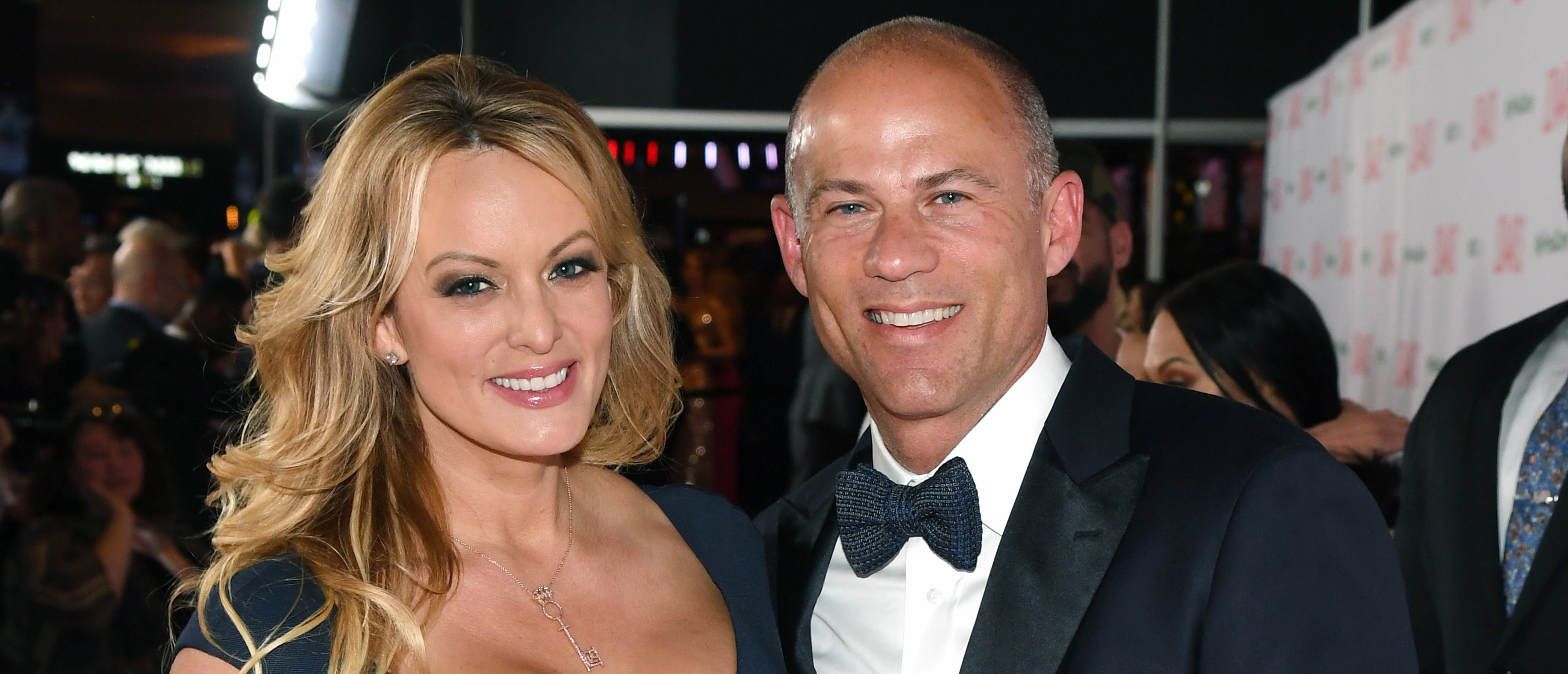 LAS VEGAS, NEVADA - JANUARY 26: Adult film actress/director Stormy Daniels (L) and attorney Michael Avenatti attend the 2019 Adult Video News Awards at The Joint inside the Hard Rock Hotel & Casino on January 26, 2019 in Las Vegas, Nevada. (Photo by Ethan Miller/Getty Images)