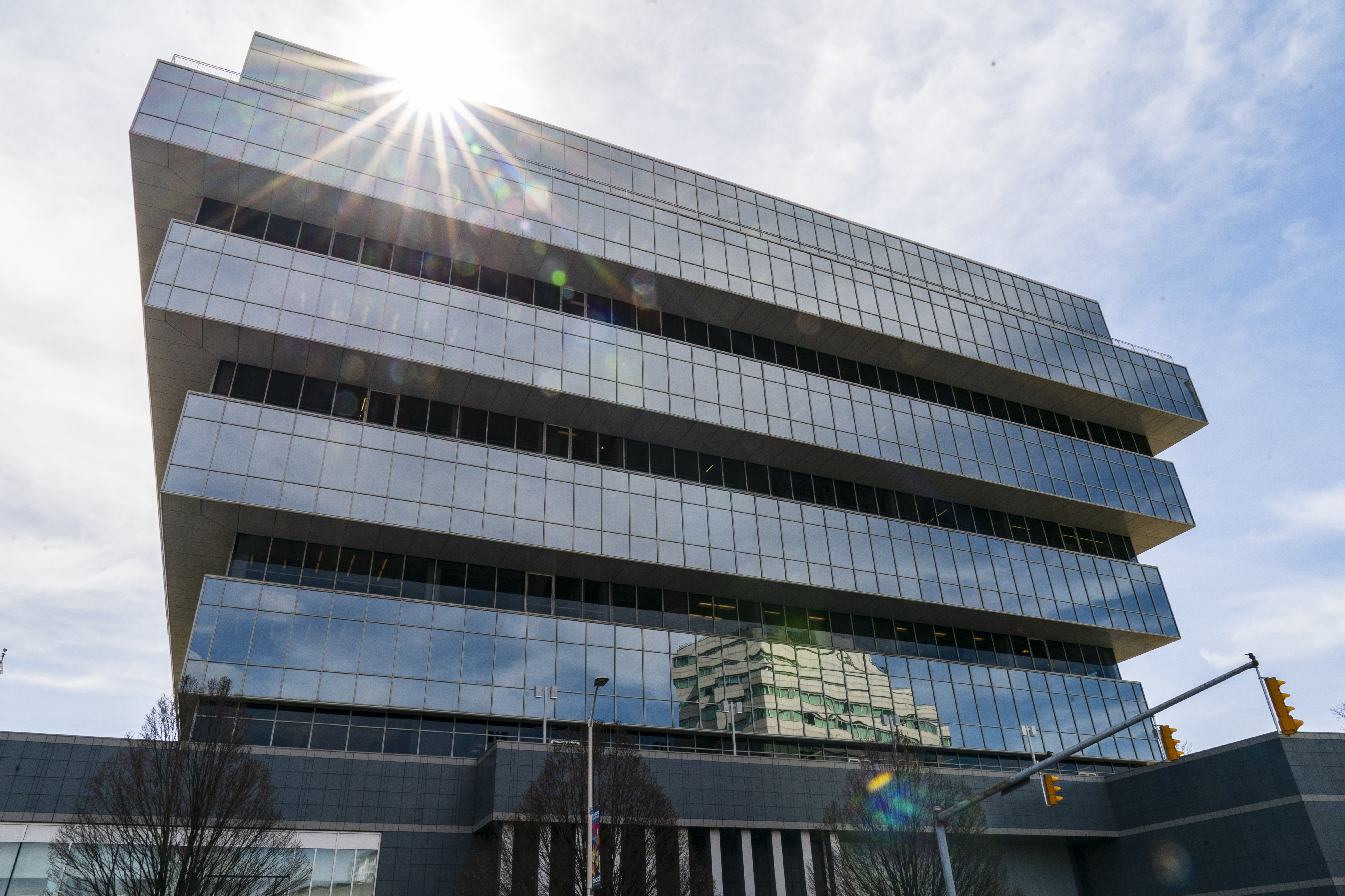 Purdue Pharma headquarters stands in downtown Stamford, April 2, 2019 in Stamford, Connecticut. (Drew Angerer/Getty Images)