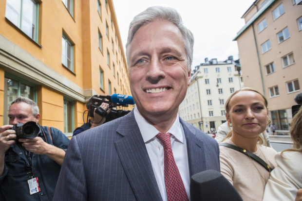 STOCKHOLM, SWEDEN - AUGUST 02: Robert C. OBrien, special envoy sent by Donald Trump, returns to the courthouse after the lunch break on the third day of the A$AP Rocky assault trial at the Stockholm city courthouse on August 2, 2019 in Stockholm, Sweden. American rapper A$AP Rocky, real name Rakim Mayers, along with Dave Rispers and Bladimir Corniel are on trial for assault after an alleged confrontation with a man in Stockholm in June. (Photo by Michael Campanella/Getty Images)