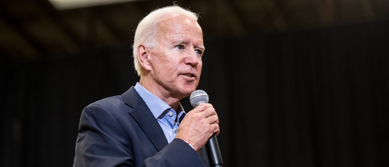 ROCK HILL, SC - AUGUST 29: Democratic presidential candidate and former US Vice President Joe Biden addresses a crowd at a town hall event at Clinton College on August 29, 2019 in Rock Hill, South Carolina. Biden has spent Wednesday and Thursday campaigning in the early primary state. (Photo by Sean Rayford/Getty Images)
