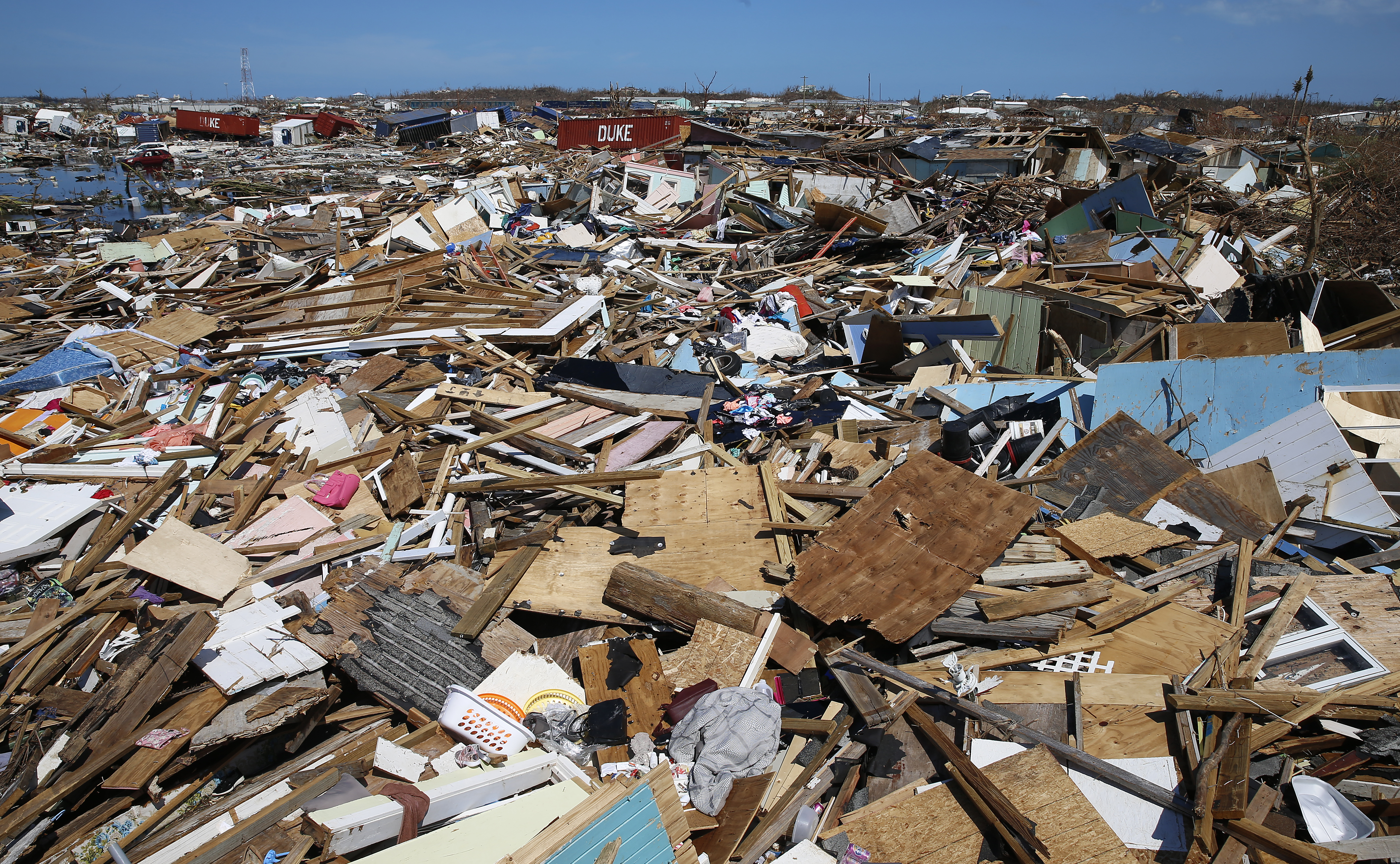 Debris is seen after Hurricane Dorian passed through in The Mudd area of Marsh Harbour on September 5, 2019 in Great Abaco Island, Bahamas. (Jose Jimenez/Getty Images)