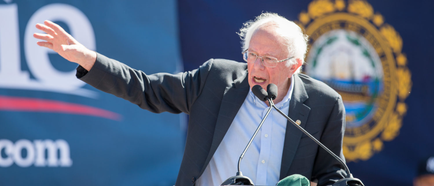 PLYMOUTH, NH - SEPTEMBER 29: Democratic presidential candidate, Sen. Bernie Sanders (I-VT) speaks during his event at Plymouth State University on September 29, 2019 in Plymouth, New Hampshire. (Photo by Scott Eisen/Getty Images)