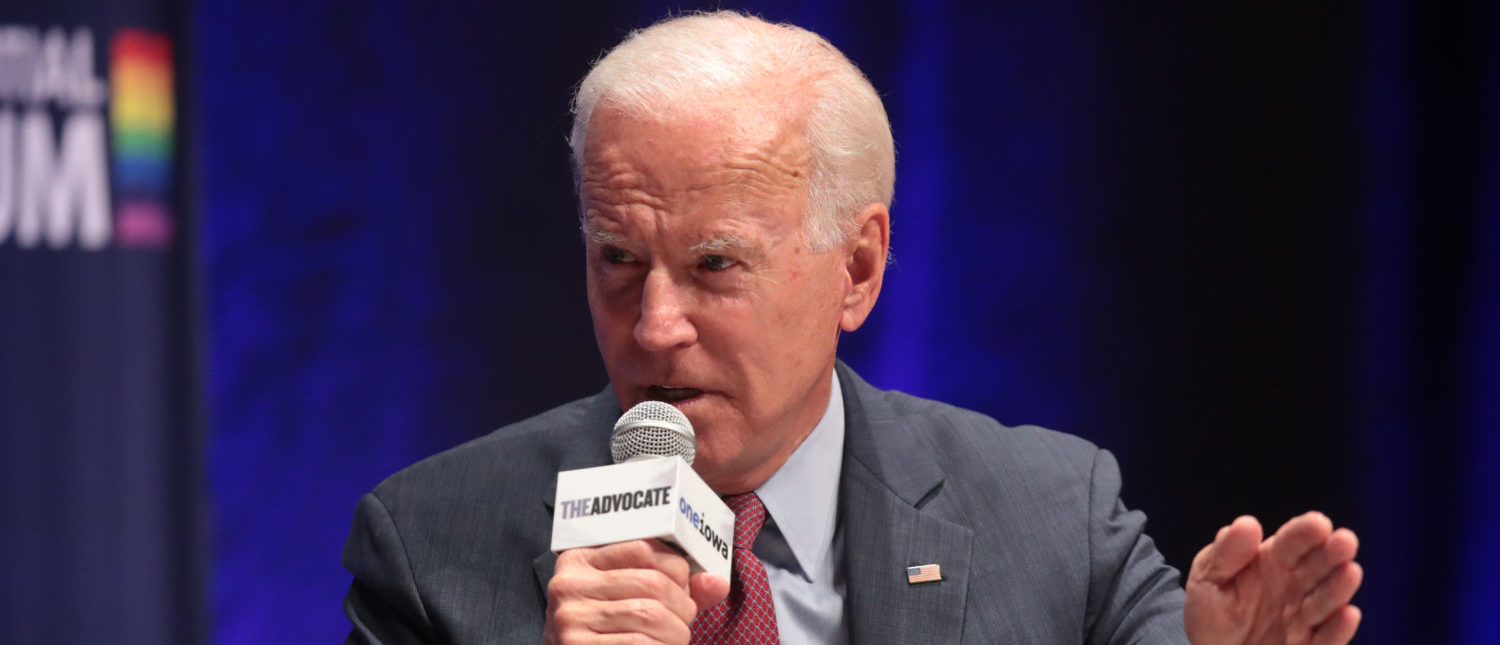 CEDAR RAPIDS, IOWA - SEPTEMBER 20: Democratic presidential candidate and former vice president Joe Biden speaks at a LGBTQ presidential forum at Coe College's Sinclair Auditorium on September 20, 2019 in Cedar Rapids, Iowa. The event is the first public event of the 2020 election cycle to focus entirely on LGBTQ issues. (Photo by Scott Olson/Getty Images)