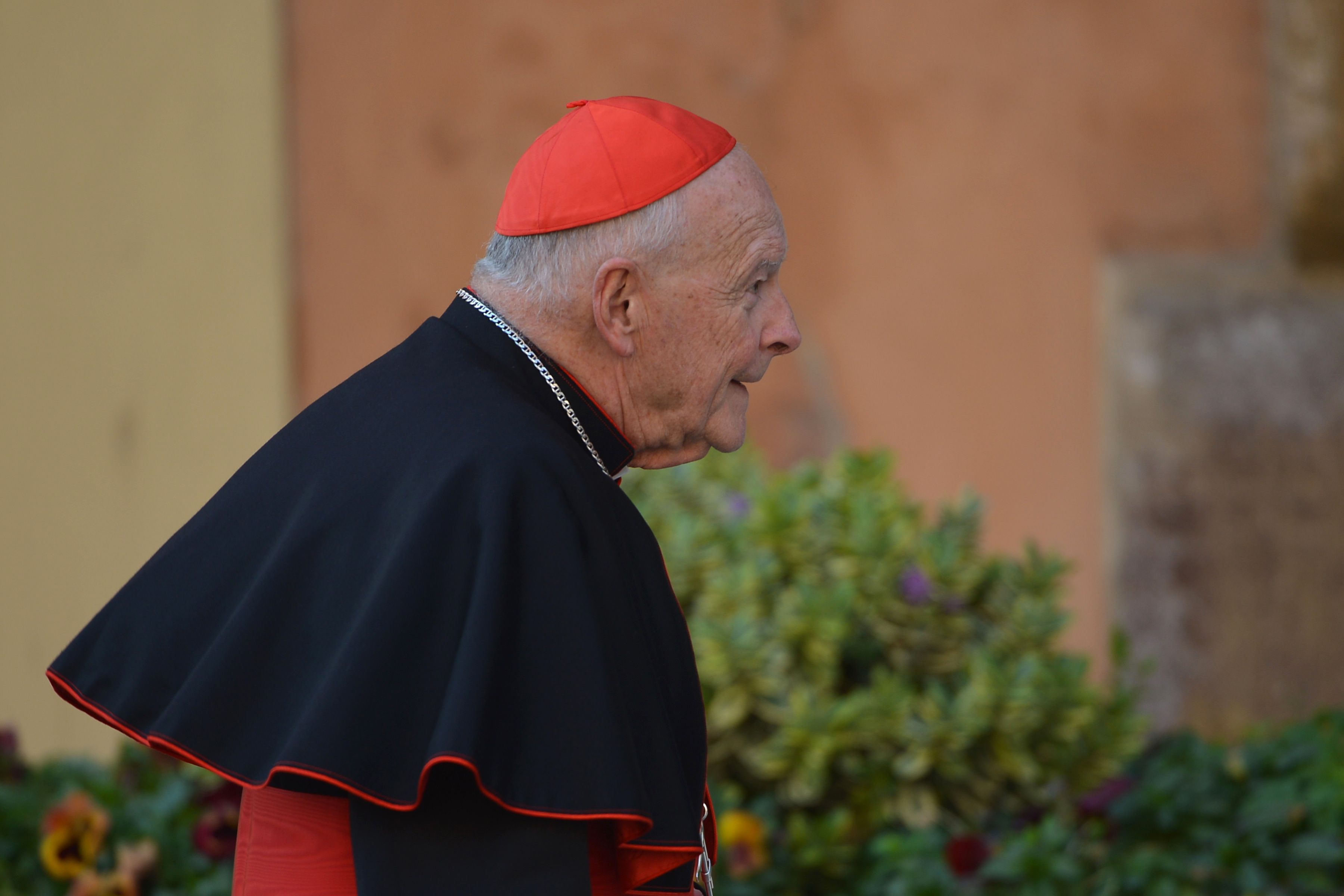 US cardinal Edgar Theodore McCarrick arrives for talks ahead of a conclave to elect a new pope on March 4, 2013 at the Vatican. The Vatican meetings will set the date for the start of the conclave this month and help identify candidates among the cardinals to be the next leader of the world's 1.2 billion Catholics. AFP PHOTO / VINCENZO PINTO (Photo credit should read VINCENZO PINTO/AFP/Getty Images)