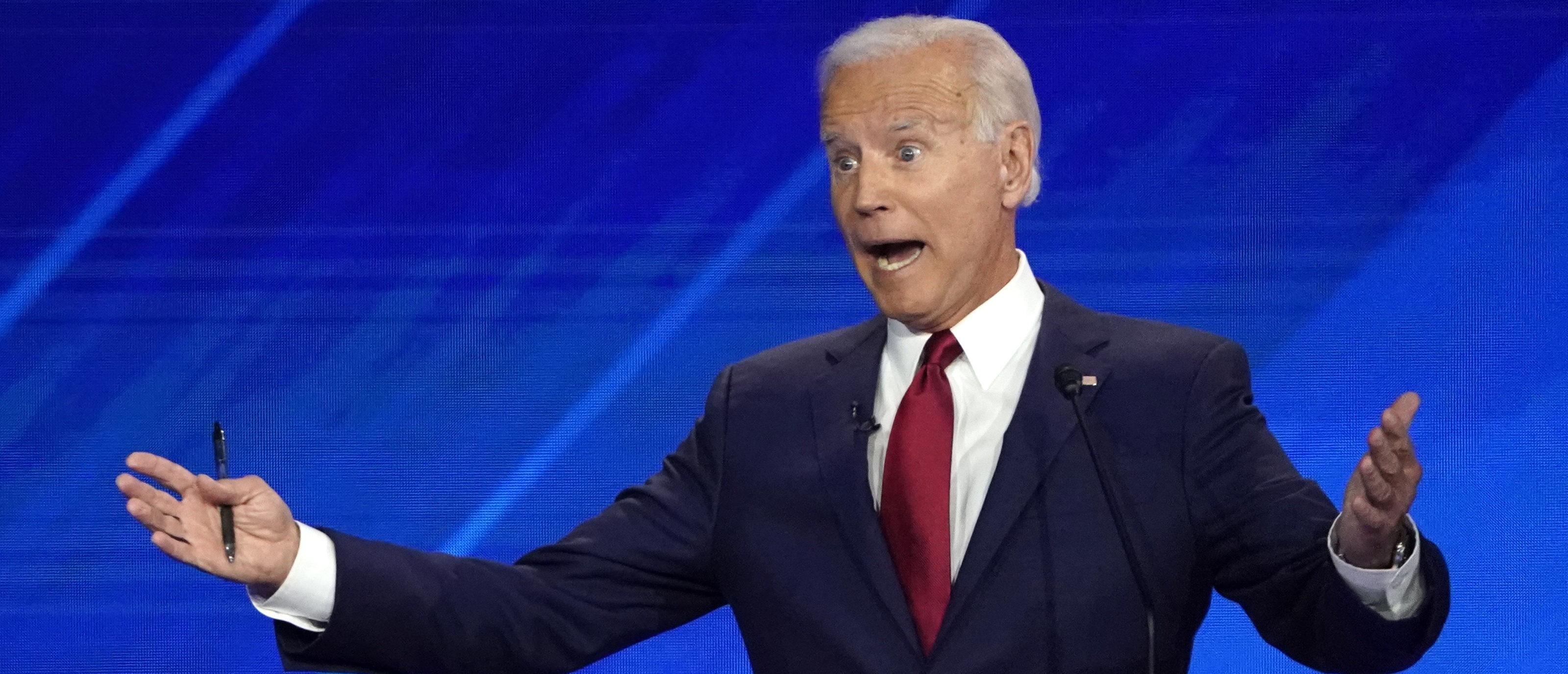Former Vice President Joe Biden speaks during the 2020 Democratic U.S. presidential debate in Houston, Texas, U.S.