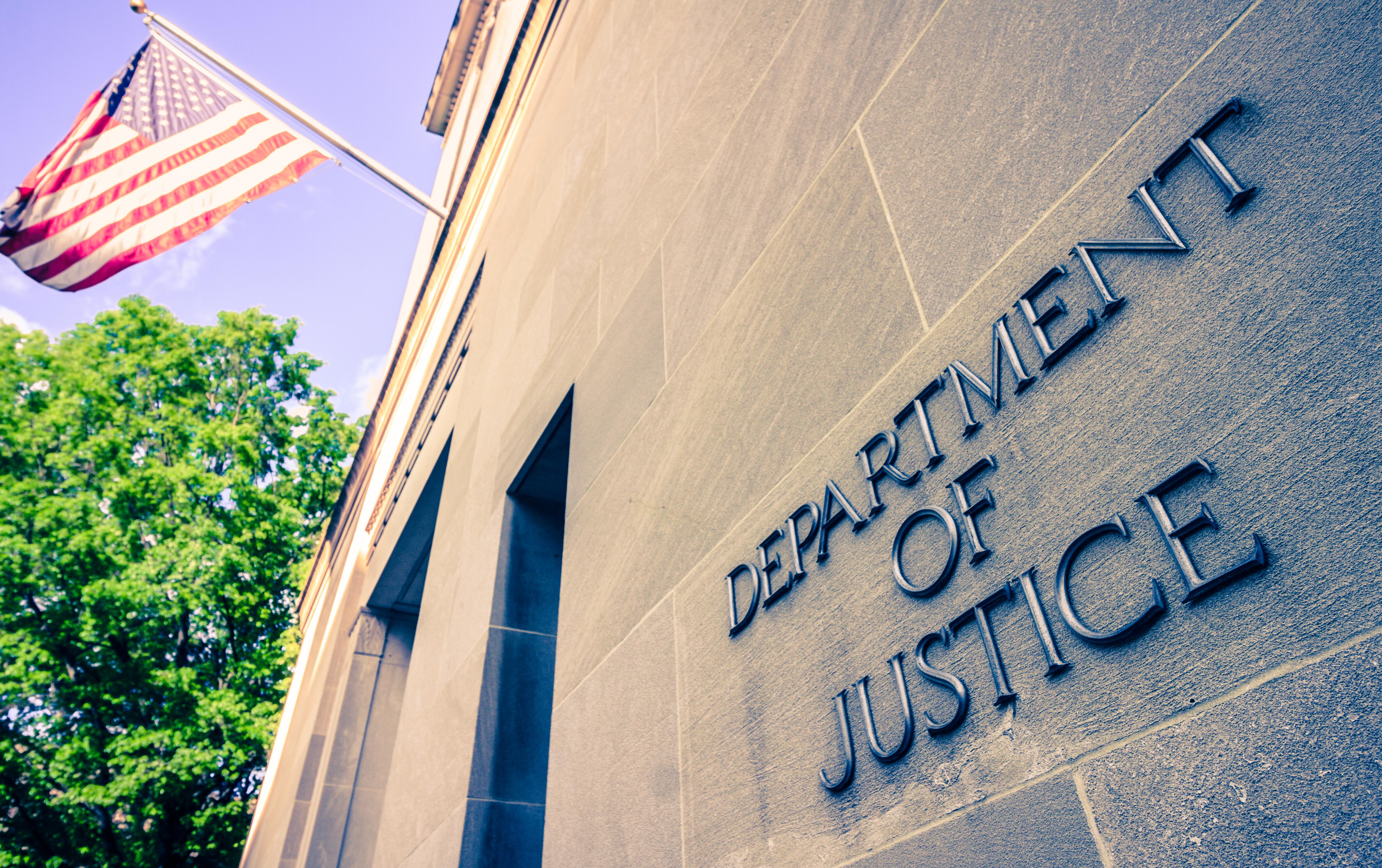 Justice Department. Shutterstock