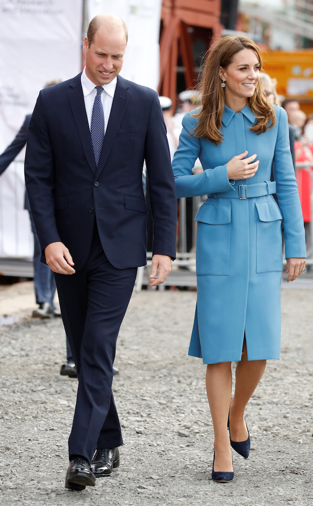 Britain's Prince William and Catherine, Duchess of Cambridge, attend the naming ceremony for the new polar research ship RRS Sir David Attenborough at Cammell Laird shipyard in Birkenhead, Britain, September 26, 2019. REUTERS/Phil Noble